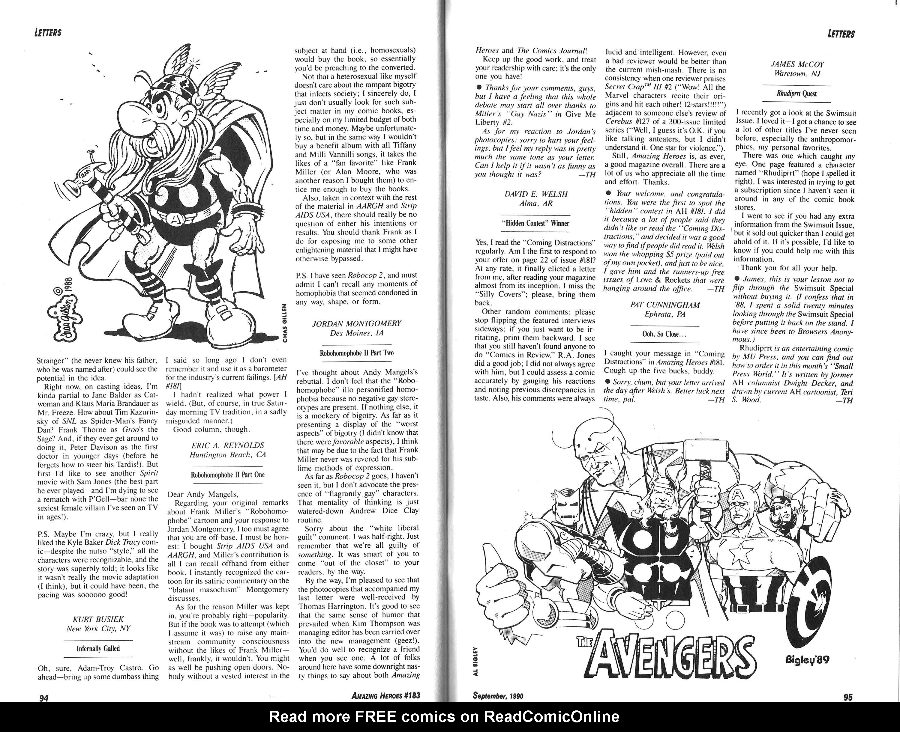 Read online Amazing Heroes comic -  Issue #183 - 48