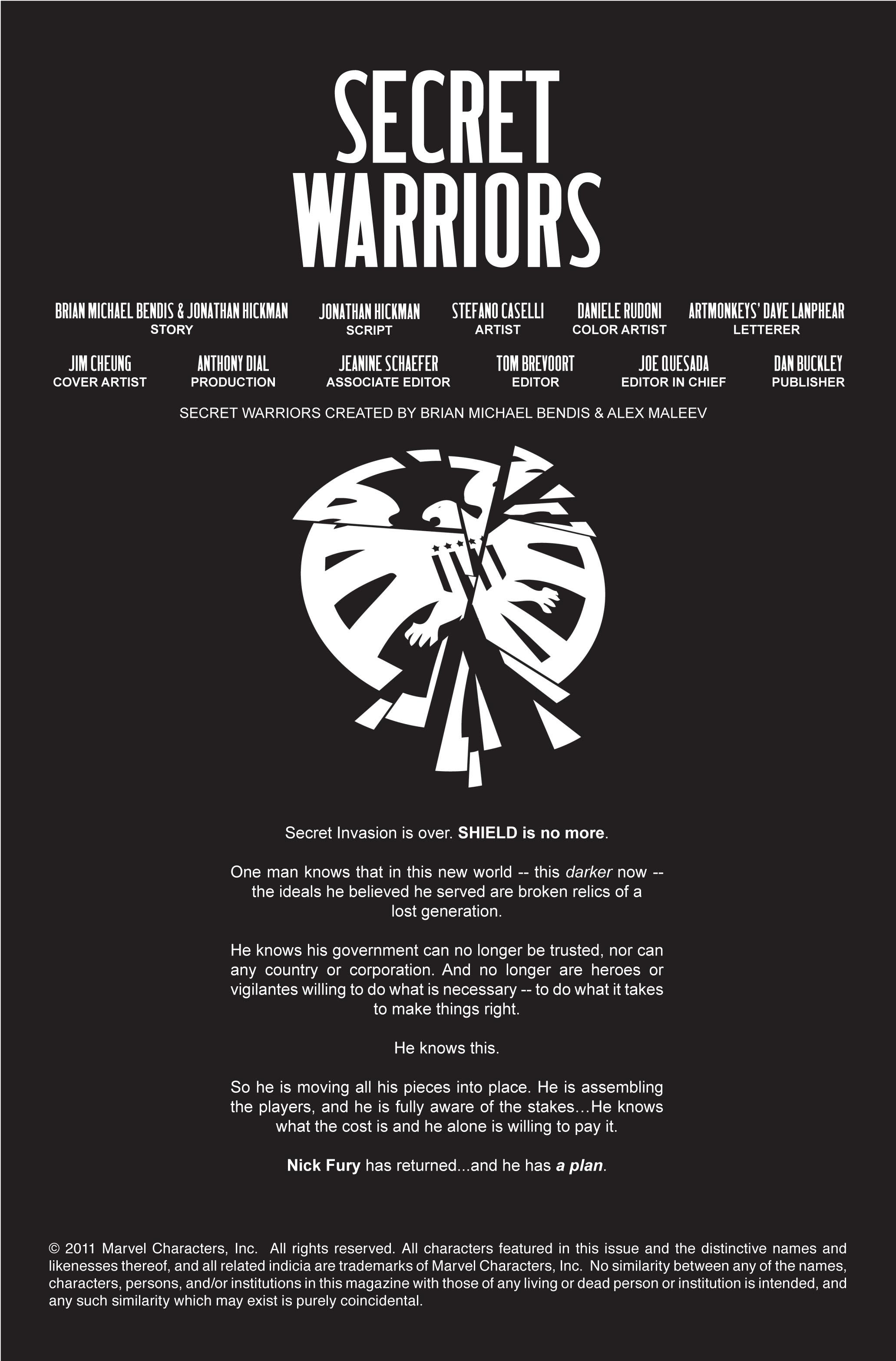 Read online Secret Warriors comic -  Issue #1 - 3