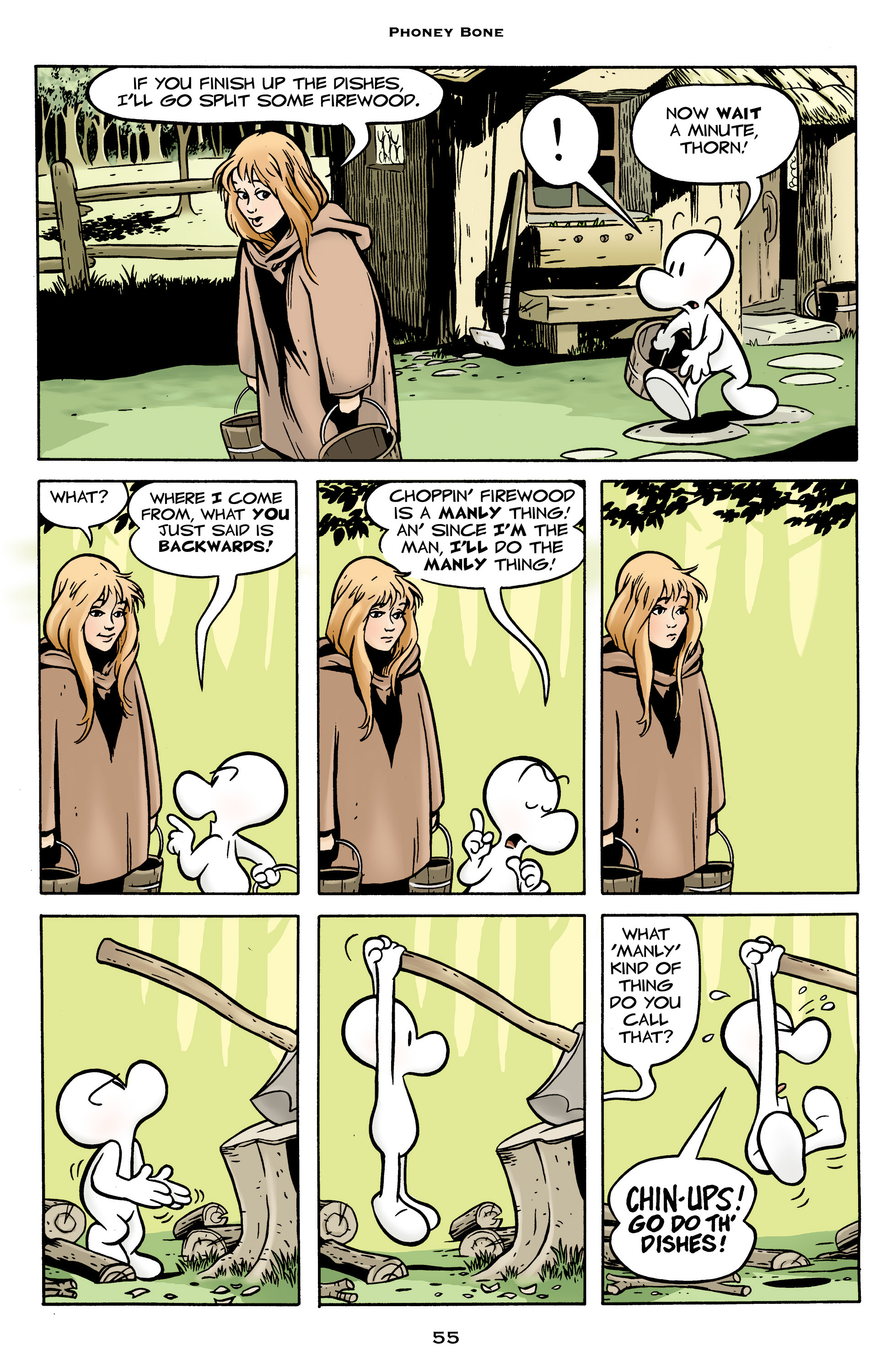 Read online Bone: Out From Boneville comic -  Issue # TPB - 55