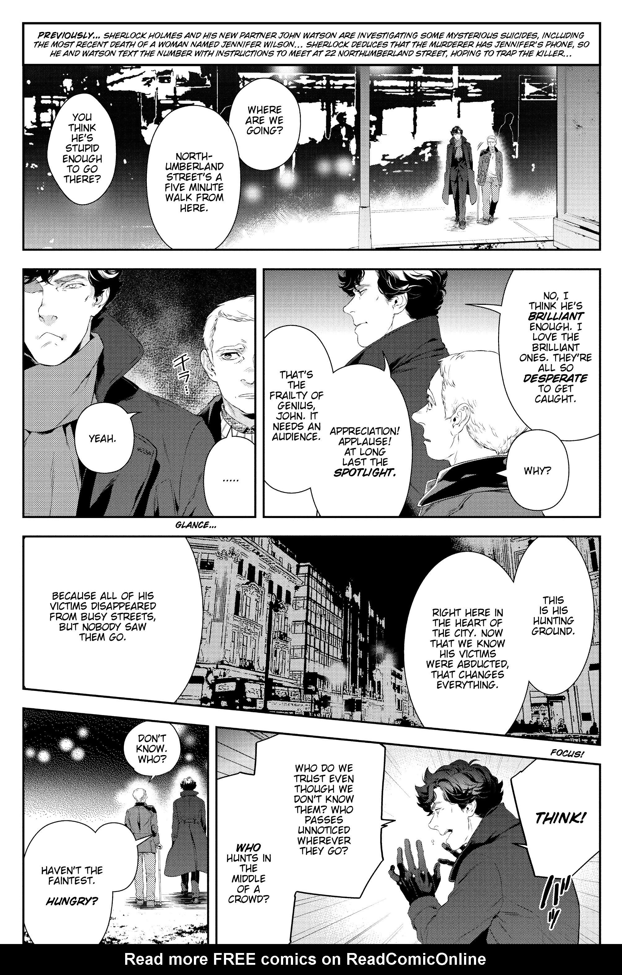 Read online Sherlock: A Study In Pink comic -  Issue #4 - 5