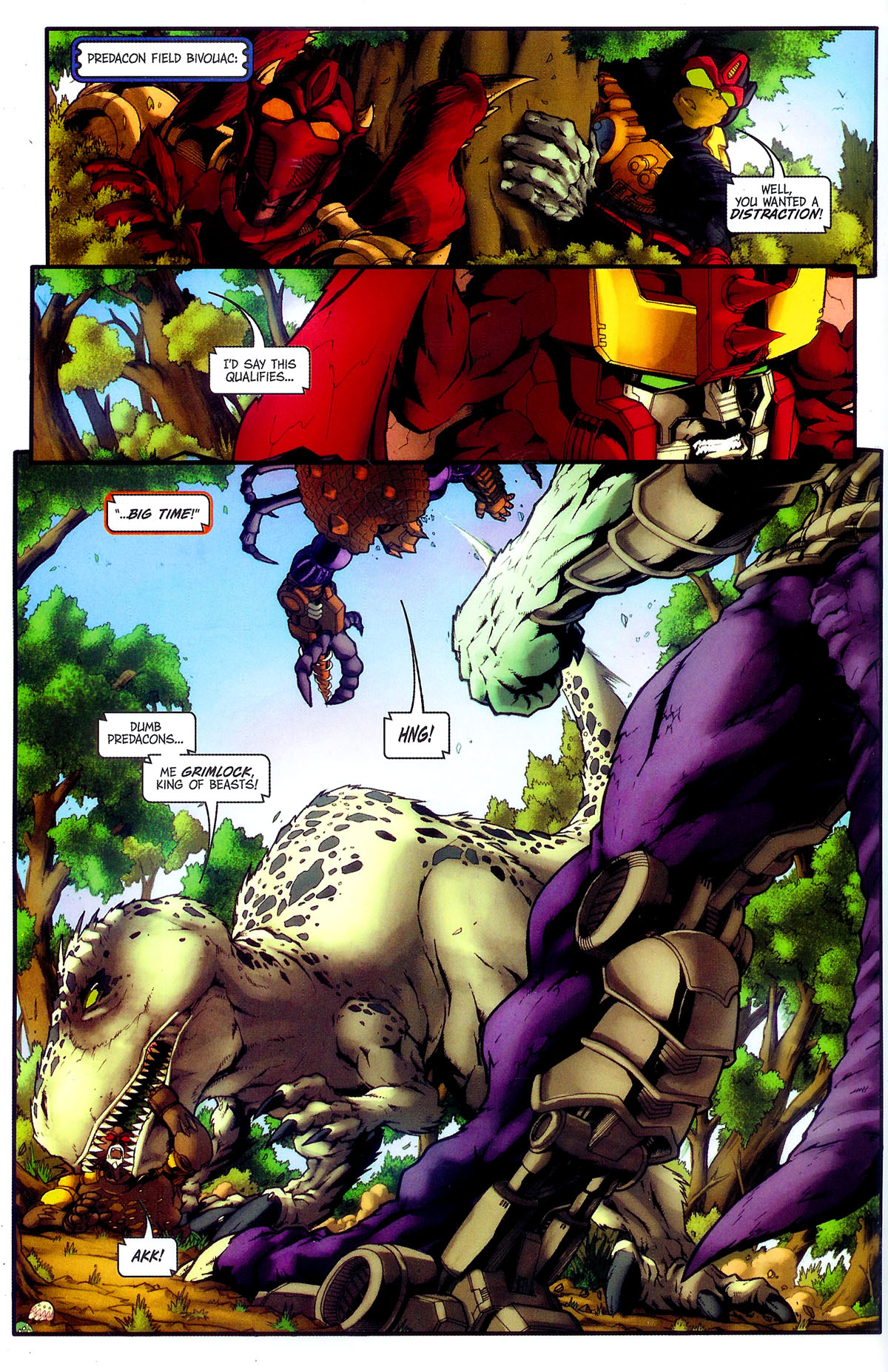 Read online Transformers, Beast Wars: The Gathering comic -  Issue #4 - 7