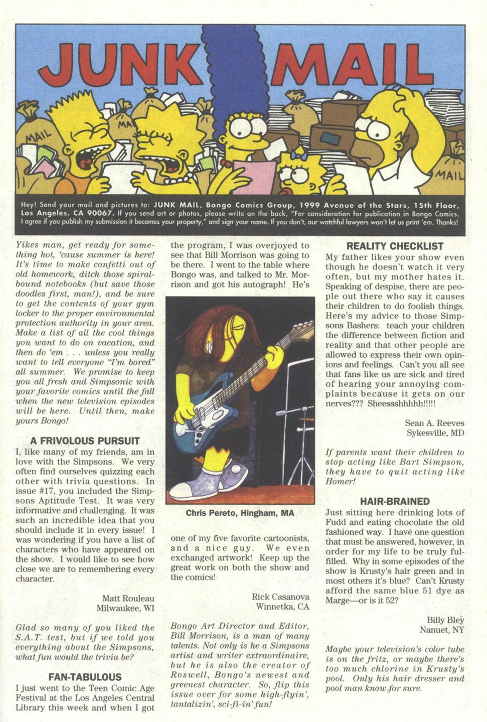 Read online Simpsons Comics comic -  Issue #20 - 24