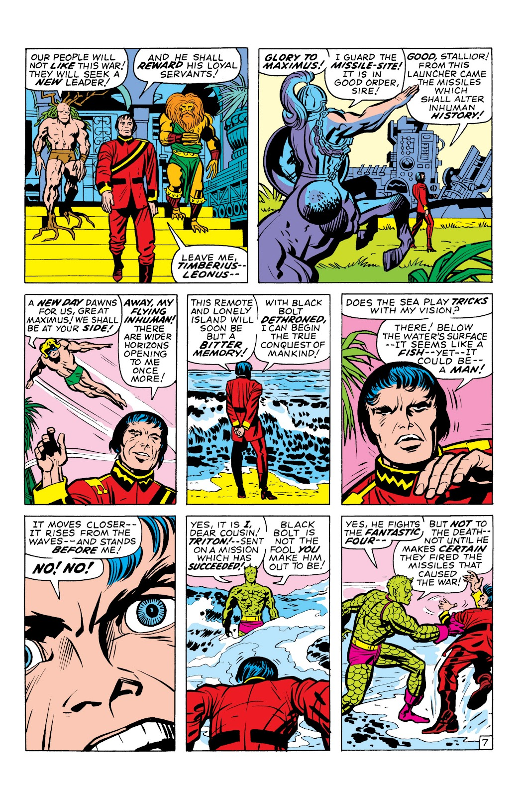 Read online Marvel Masterworks: The Inhumans comic -  Issue # TPB 1 (Part 1) - 87