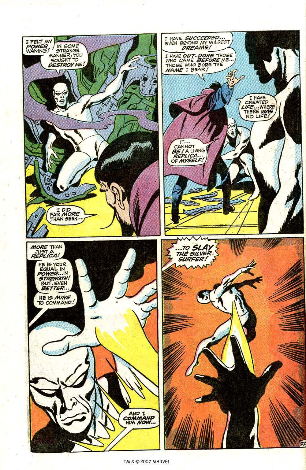 Read online Silver Surfer (1968) comic -  Issue #7 - 28
