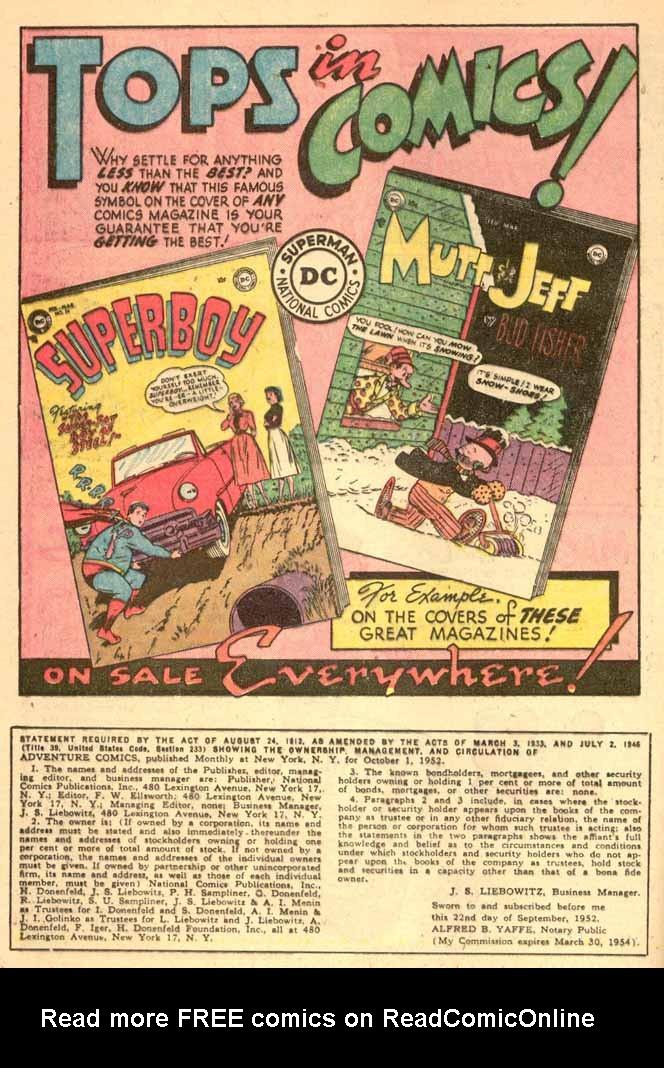 Read online Adventure Comics (1938) comic -  Issue #185 - 16