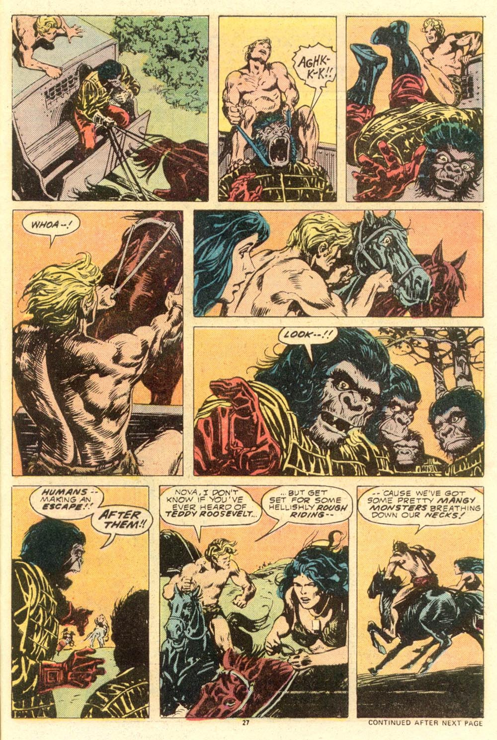 Read online Adventures on the Planet of the Apes comic -  Issue #8 - 17
