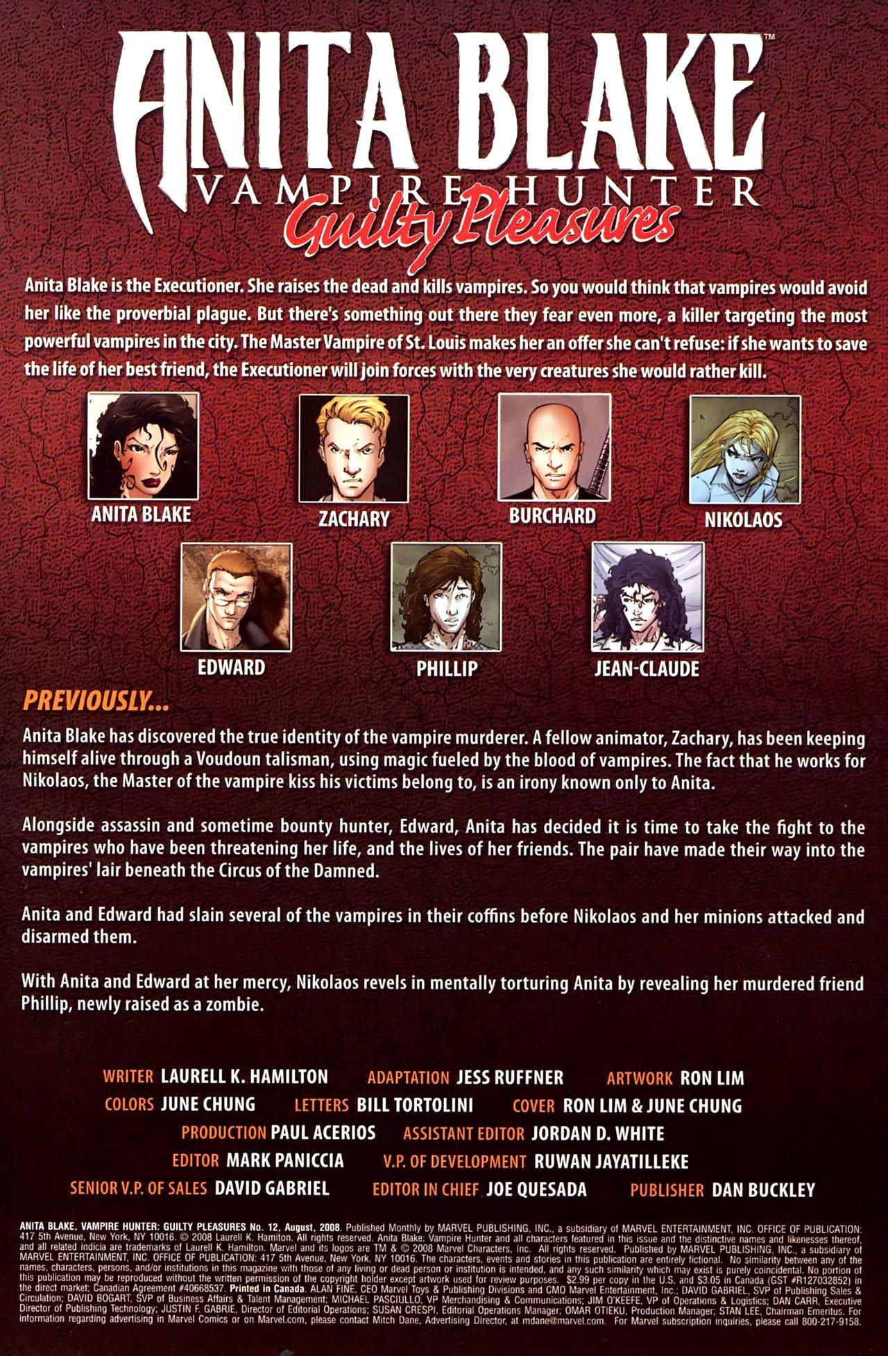 Read online Anita Blake, Vampire Hunter: Guilty Pleasures comic -  Issue #12 - 2