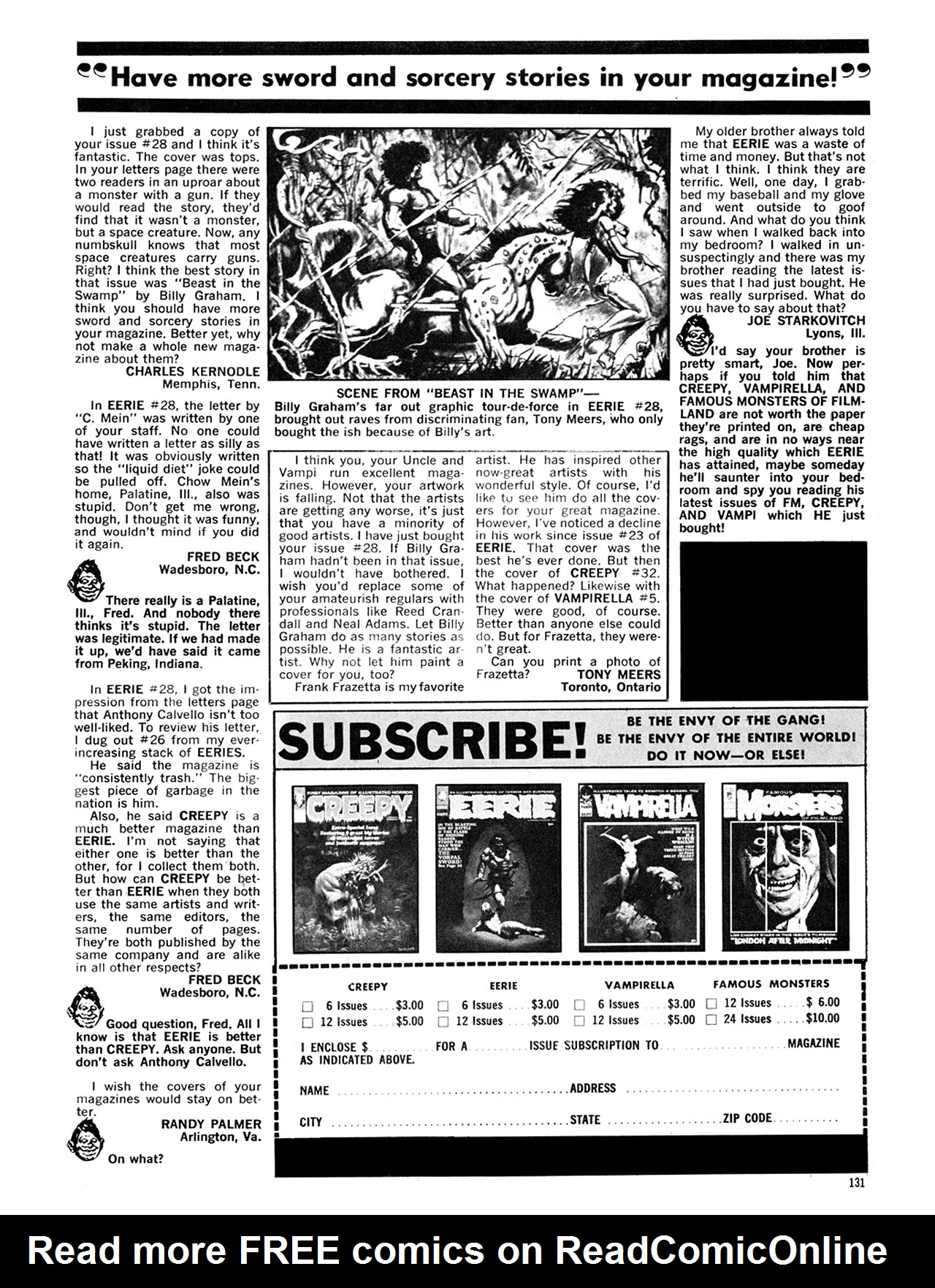 Read online Eerie Archives comic -  Issue # TPB 6 - 131