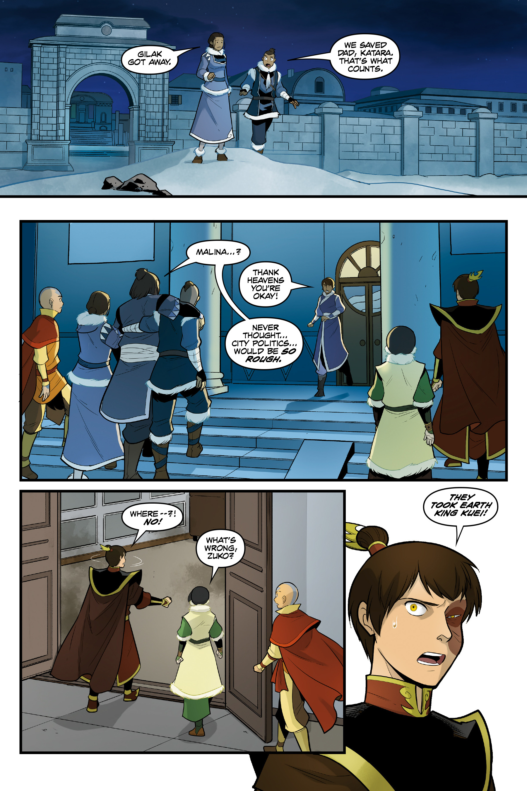 Read online Nickelodeon Avatar: The Last Airbender - North and South comic -  Issue #3 - 39
