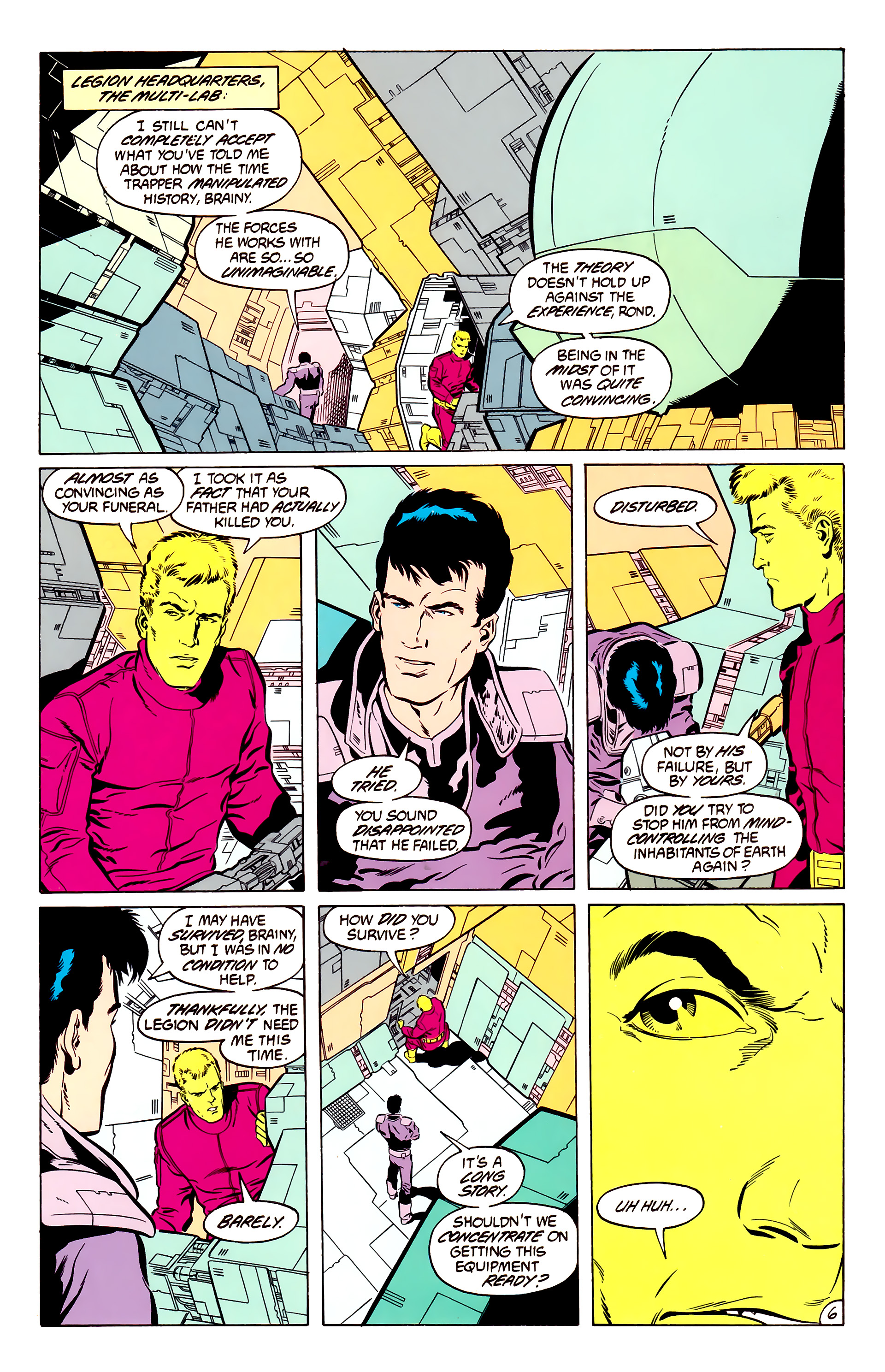 Legion of Super-Heroes (1984) 50 Page 6