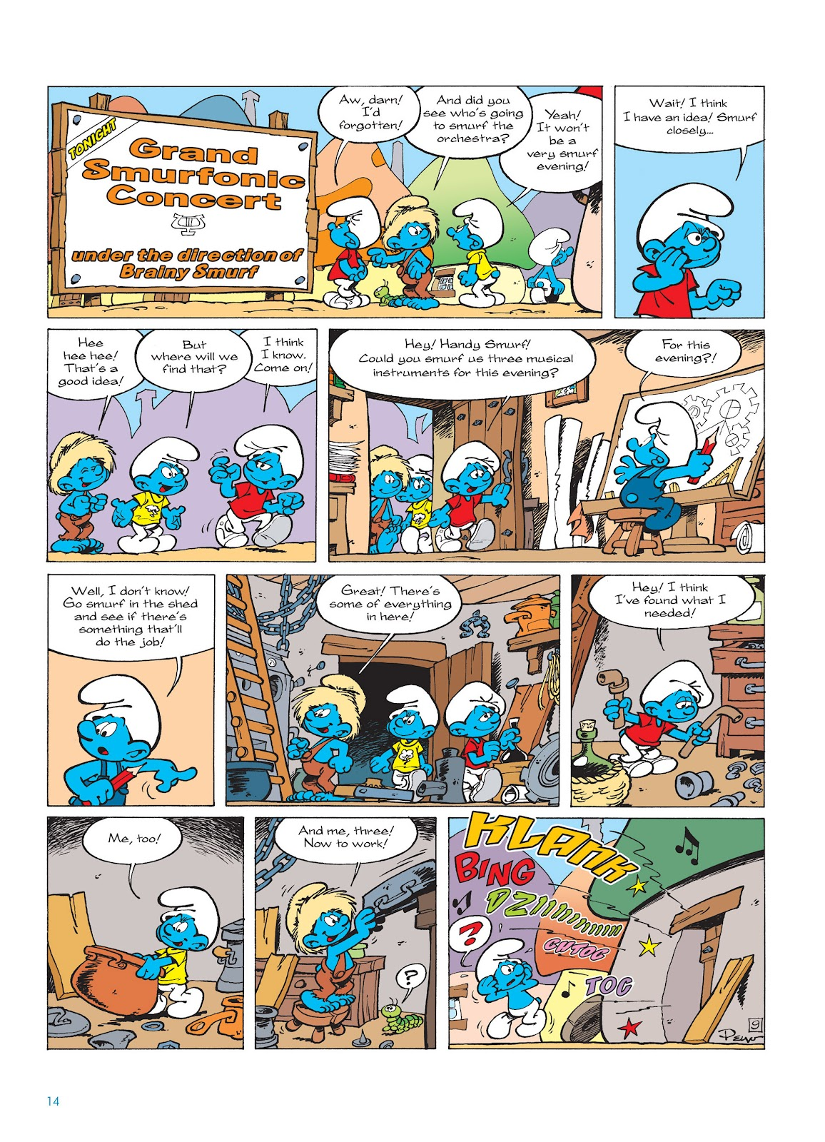 Read online The Smurfs comic -  Issue #15 - 15