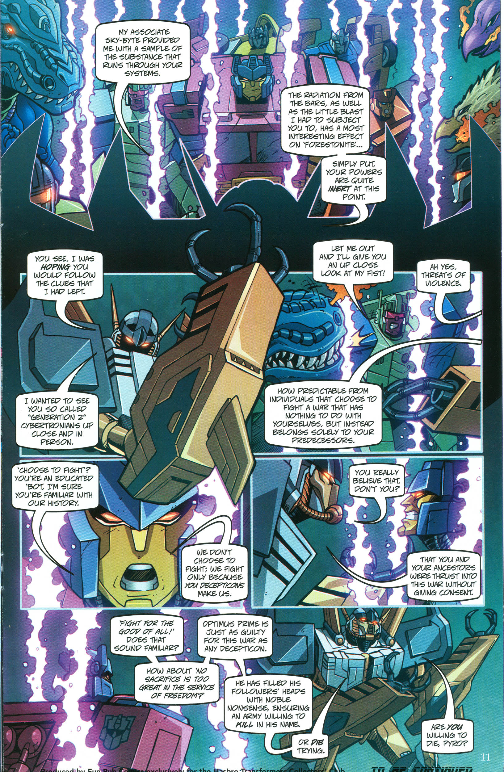 Read online Transformers: Collectors' Club comic -  Issue #46 - 11