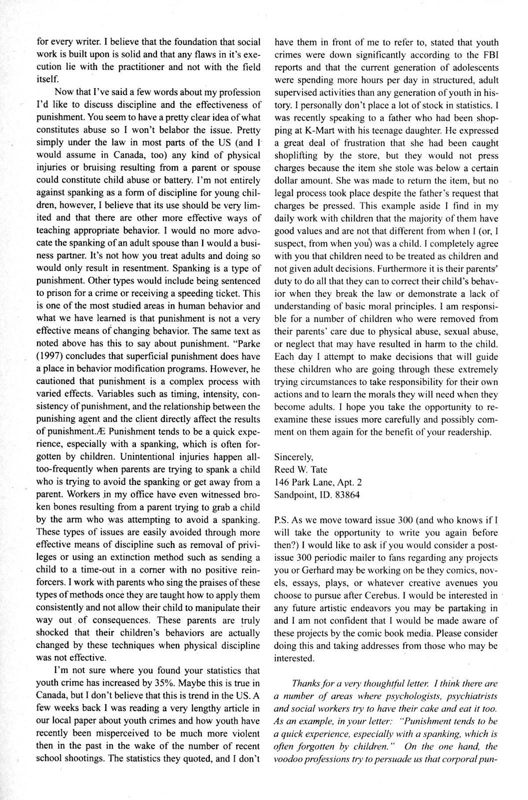 Cerebus Issue #275 #274 - English 26