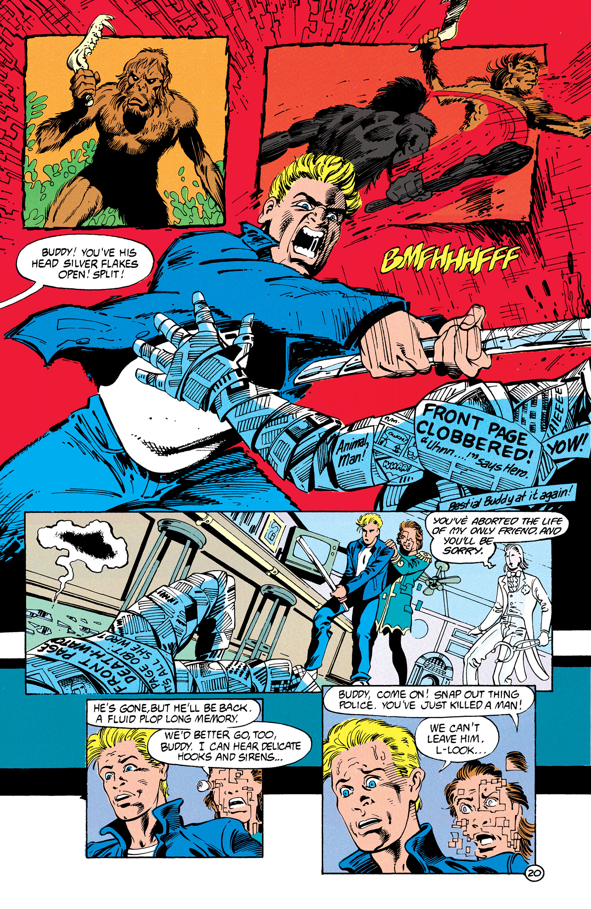 Read online Animal Man (1988) comic -  Issue #28 - 21