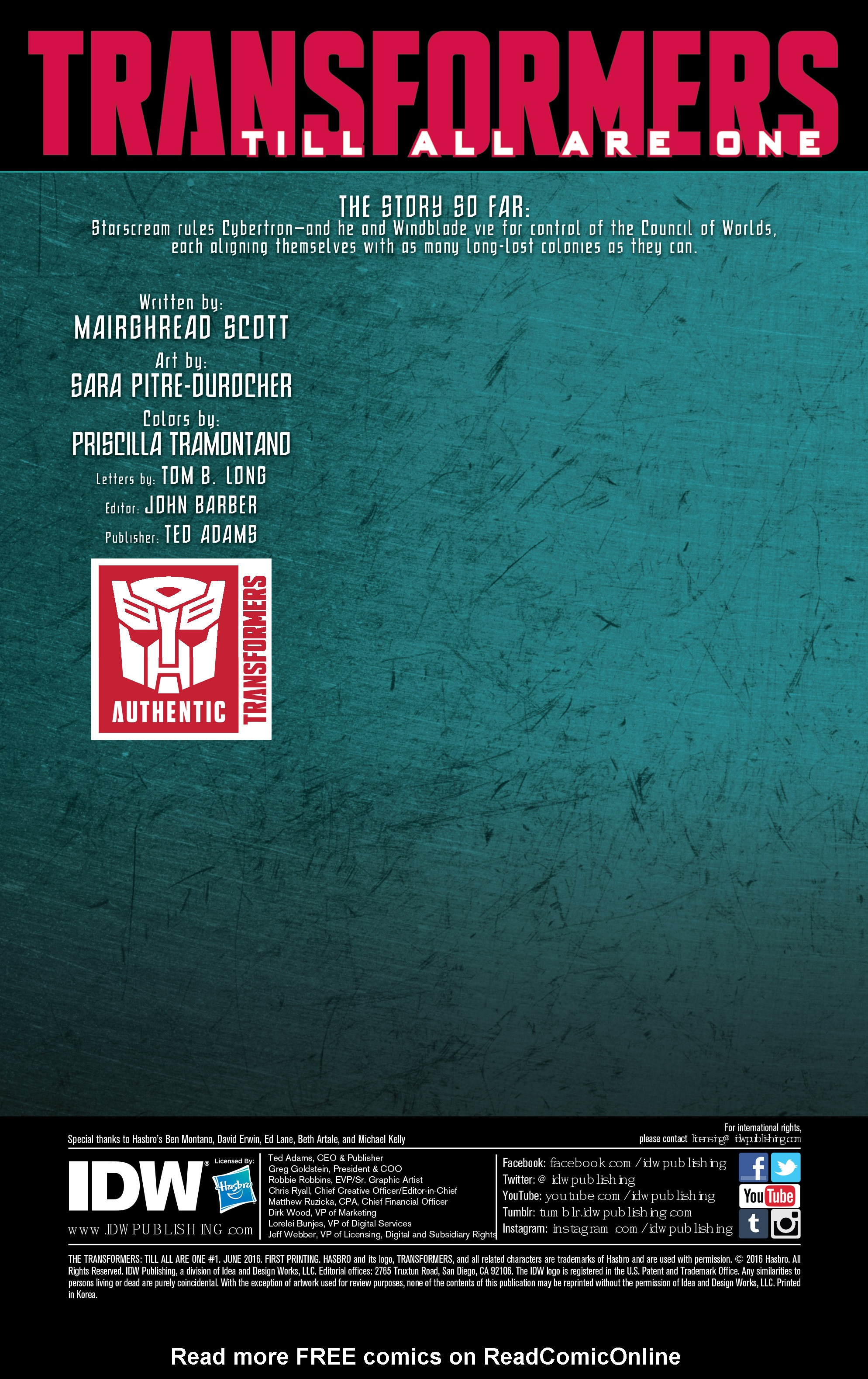 Read online Transformers: Till All Are One comic -  Issue #1 - 2
