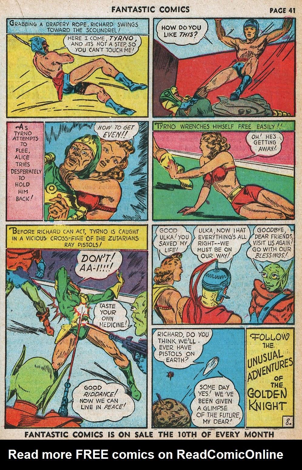 Read online Fantastic Comics comic -  Issue #20 - 41