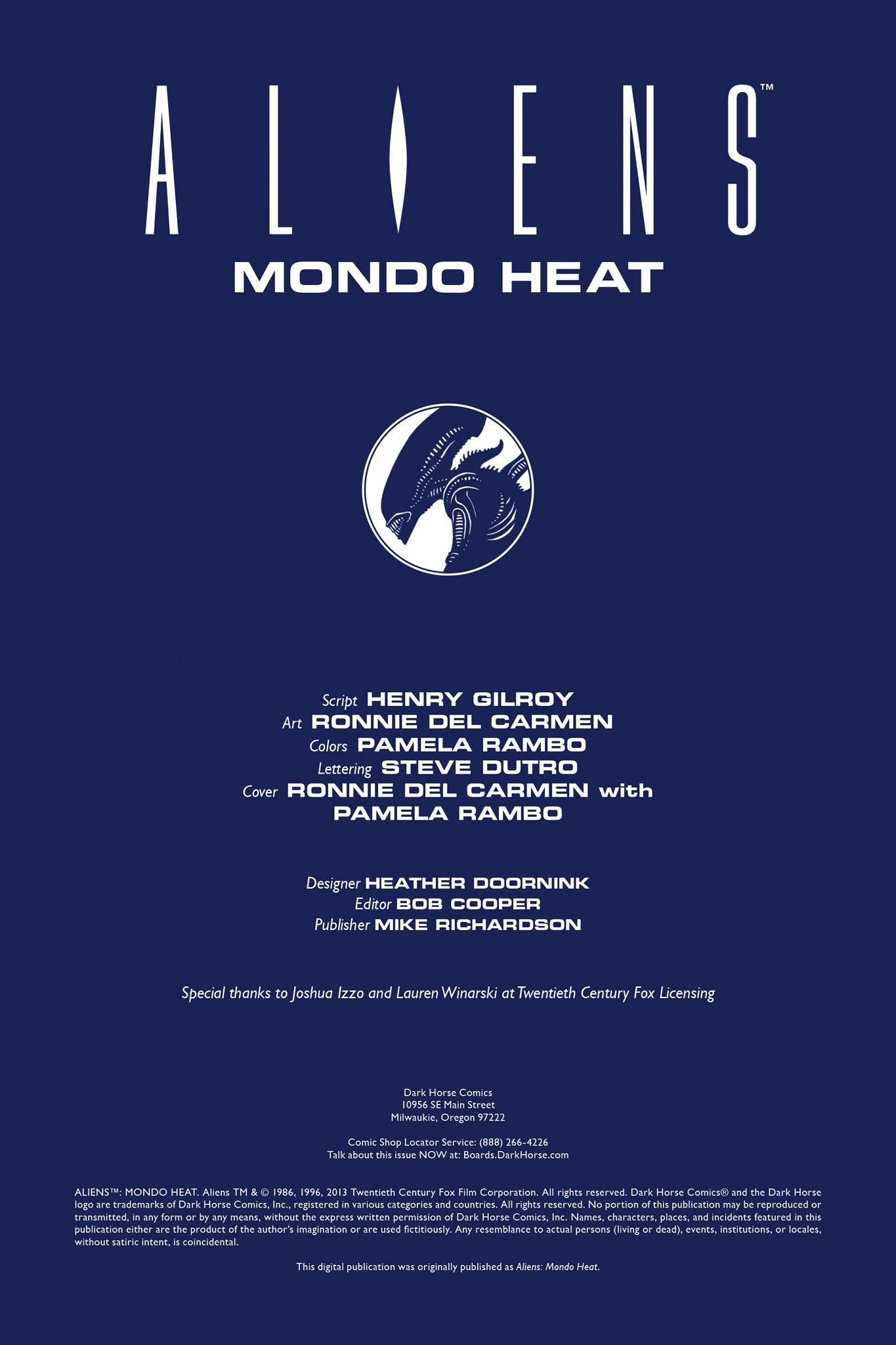 Read online Aliens: Mondo Heat comic -  Issue # Full - 2