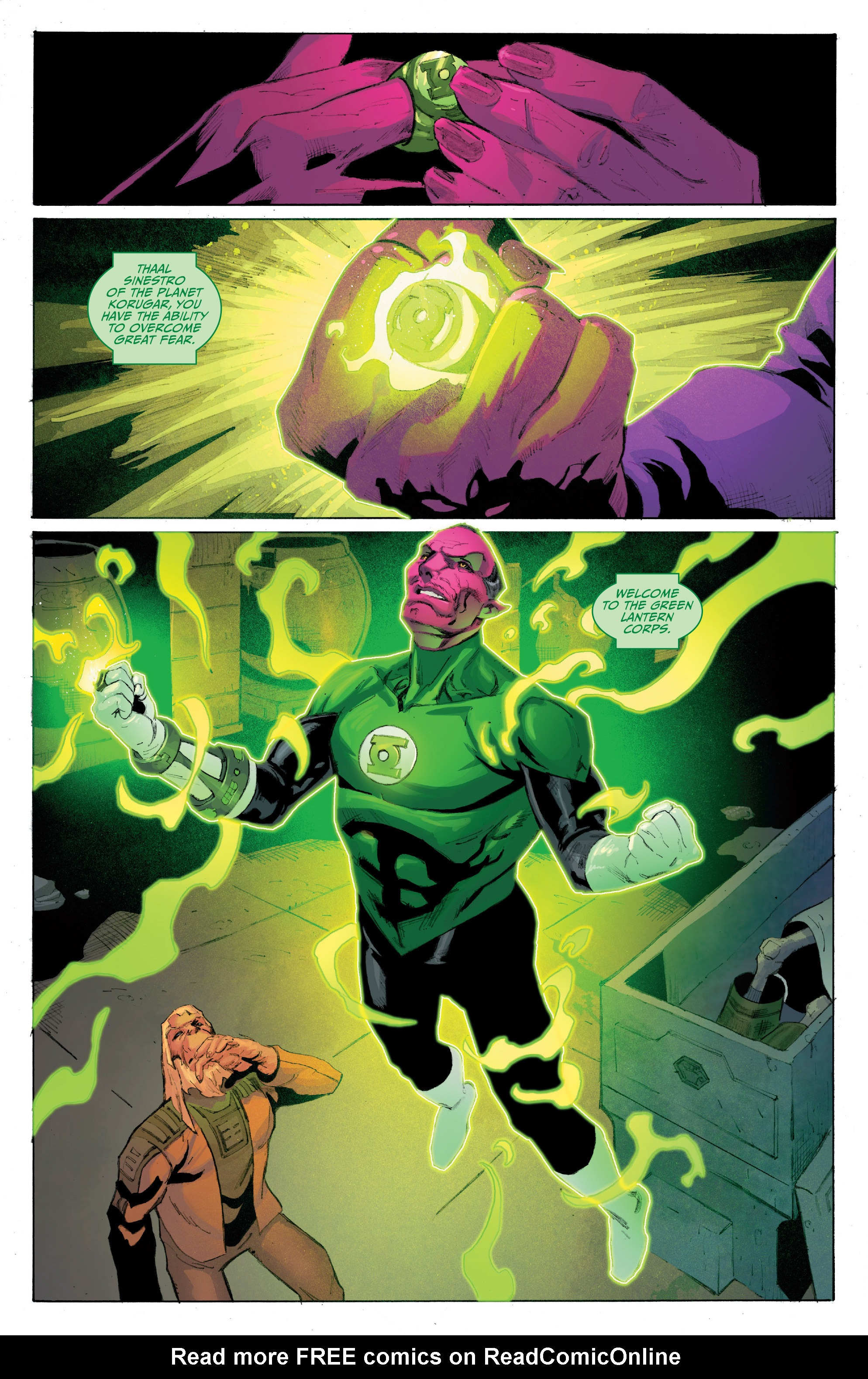 Read online Planet of the Apes/Green Lantern comic -  Issue #4 - 8