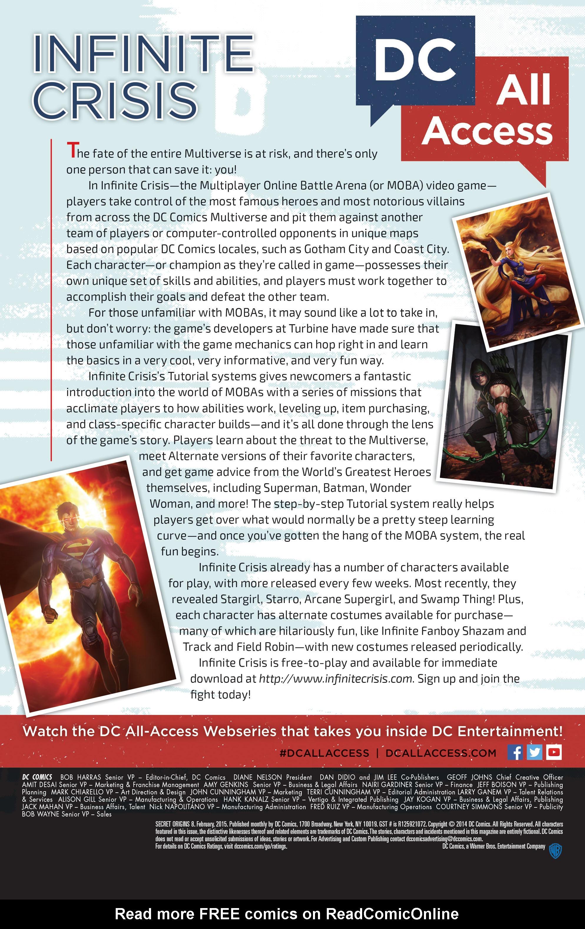 Read online Secret Origins (2014) comic -  Issue #8 - 33