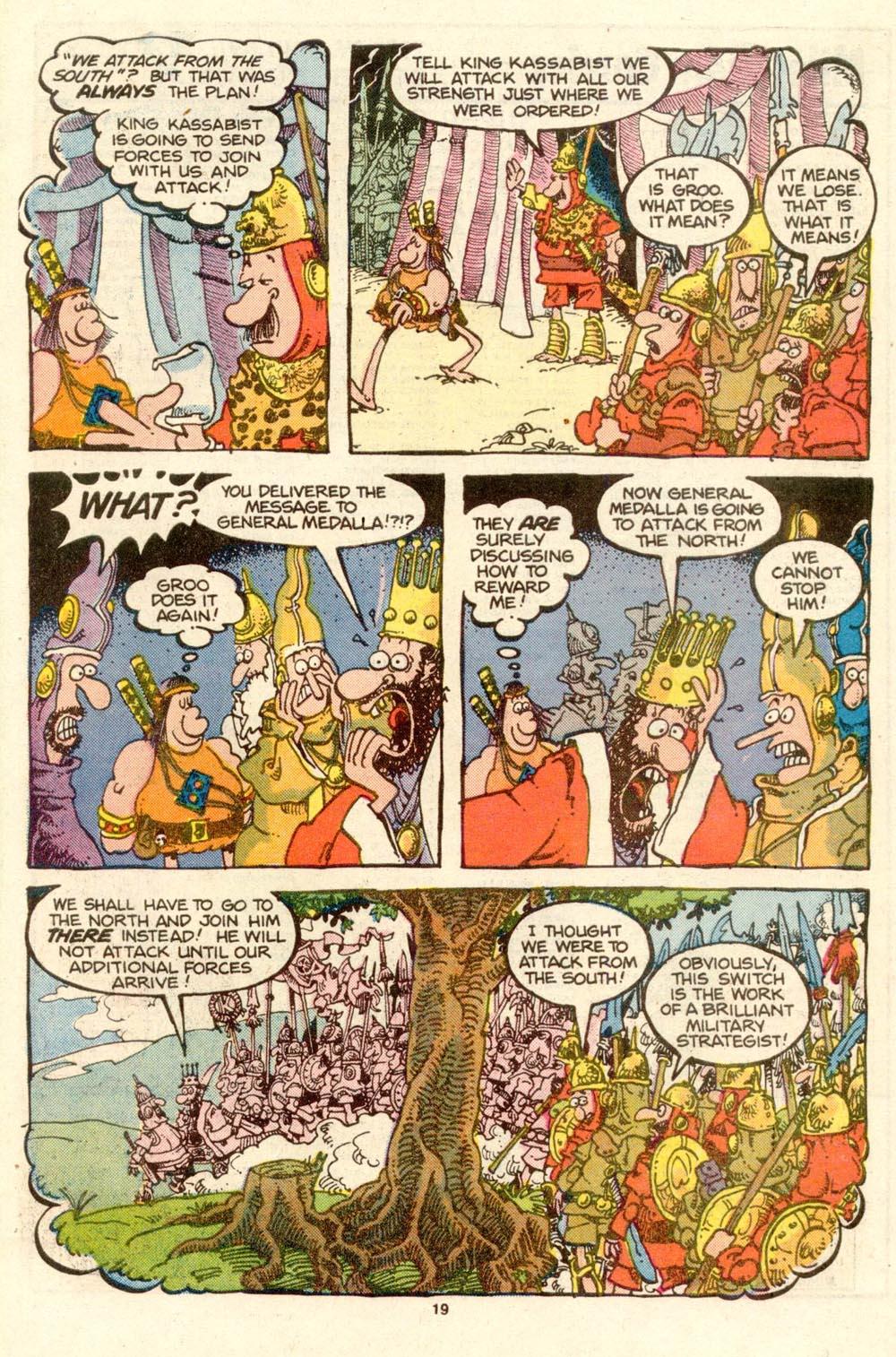 Read online Sergio Aragonés Groo the Wanderer comic -  Issue #27 - 19