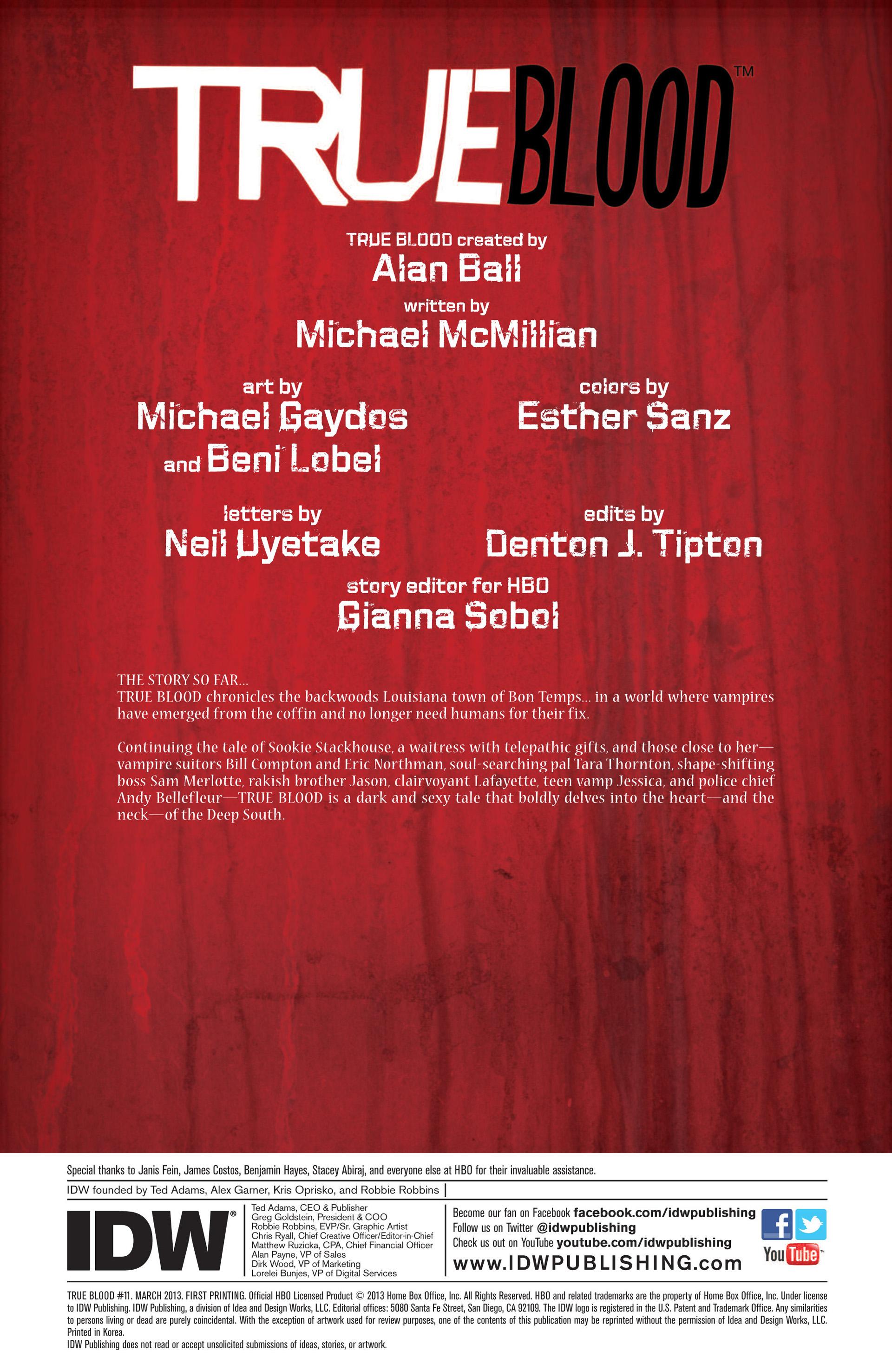 Read online True Blood (2012) comic -  Issue #11 - 3