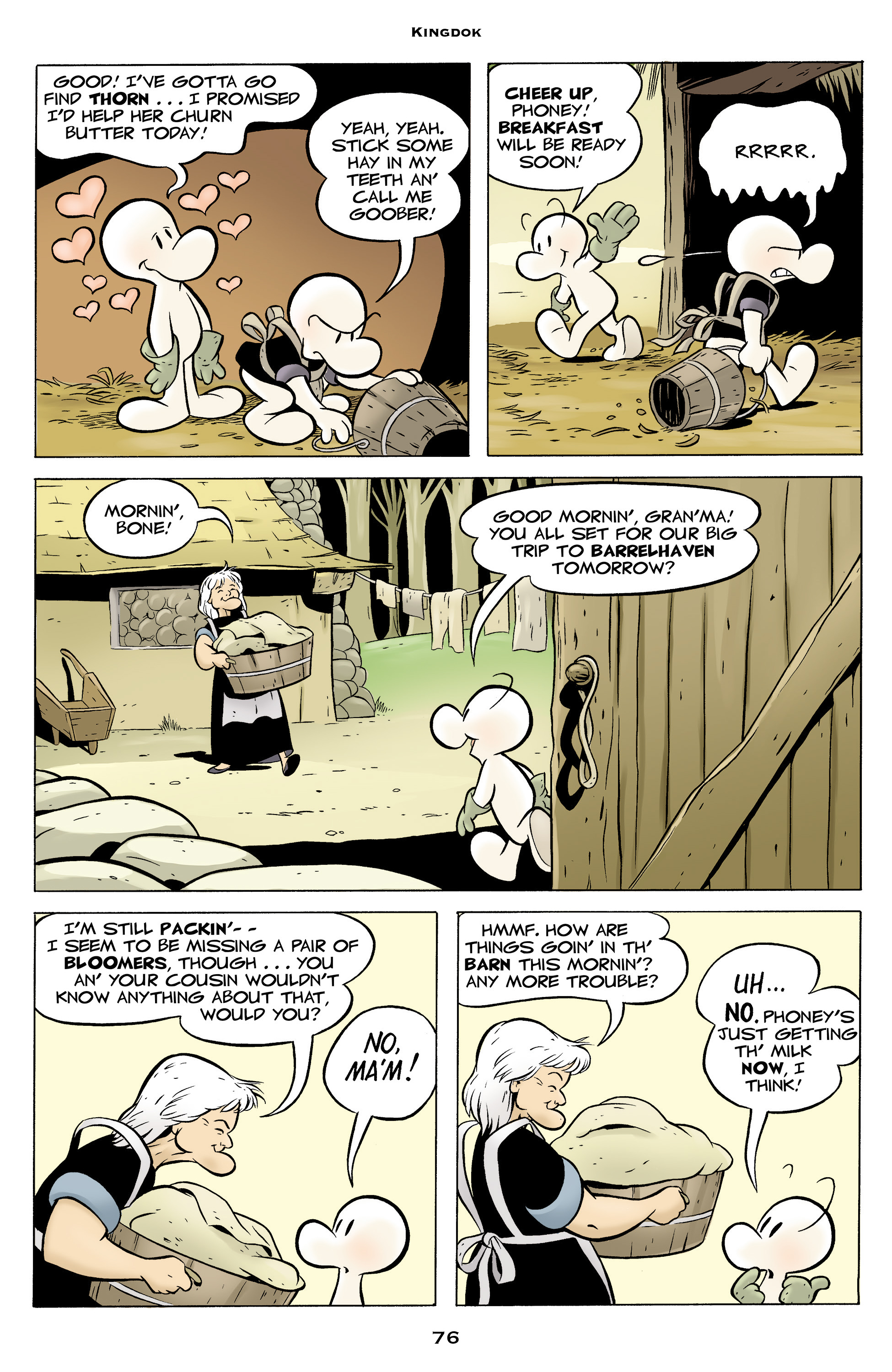 Read online Bone: Out From Boneville comic -  Issue # TPB - 76