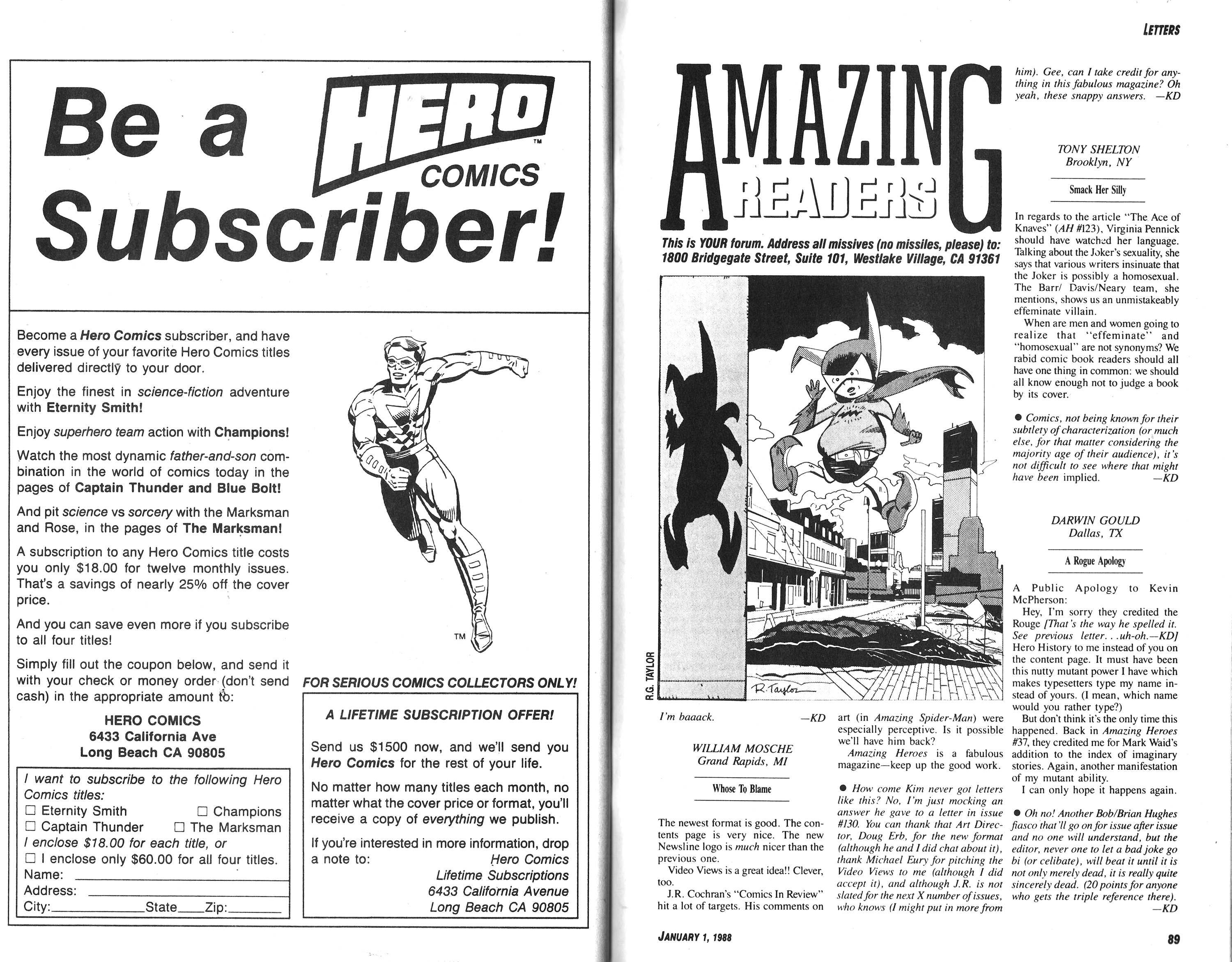 Read online Amazing Heroes comic -  Issue #132 - 45