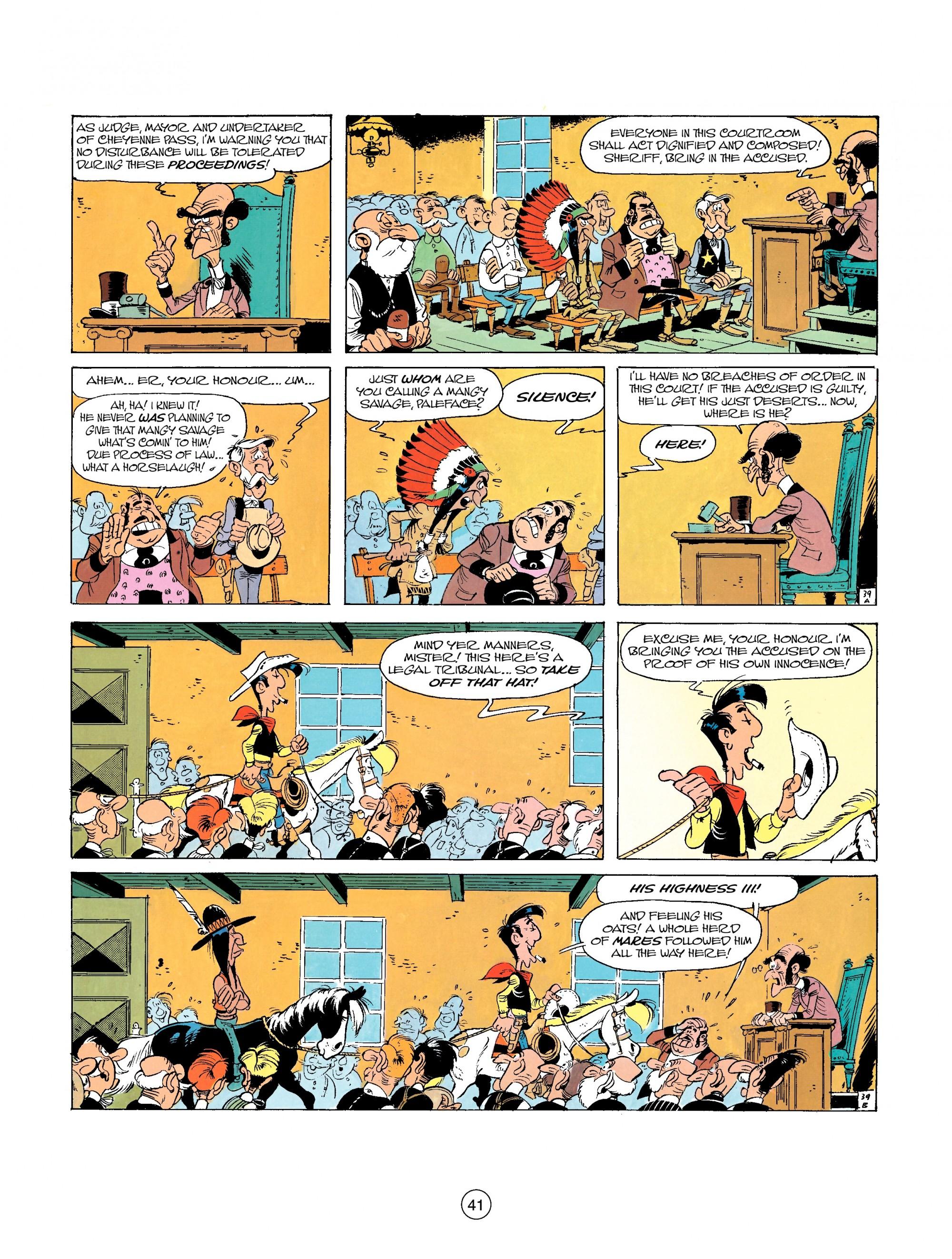 Read online A Lucky Luke Adventure comic -  Issue #26 - 41