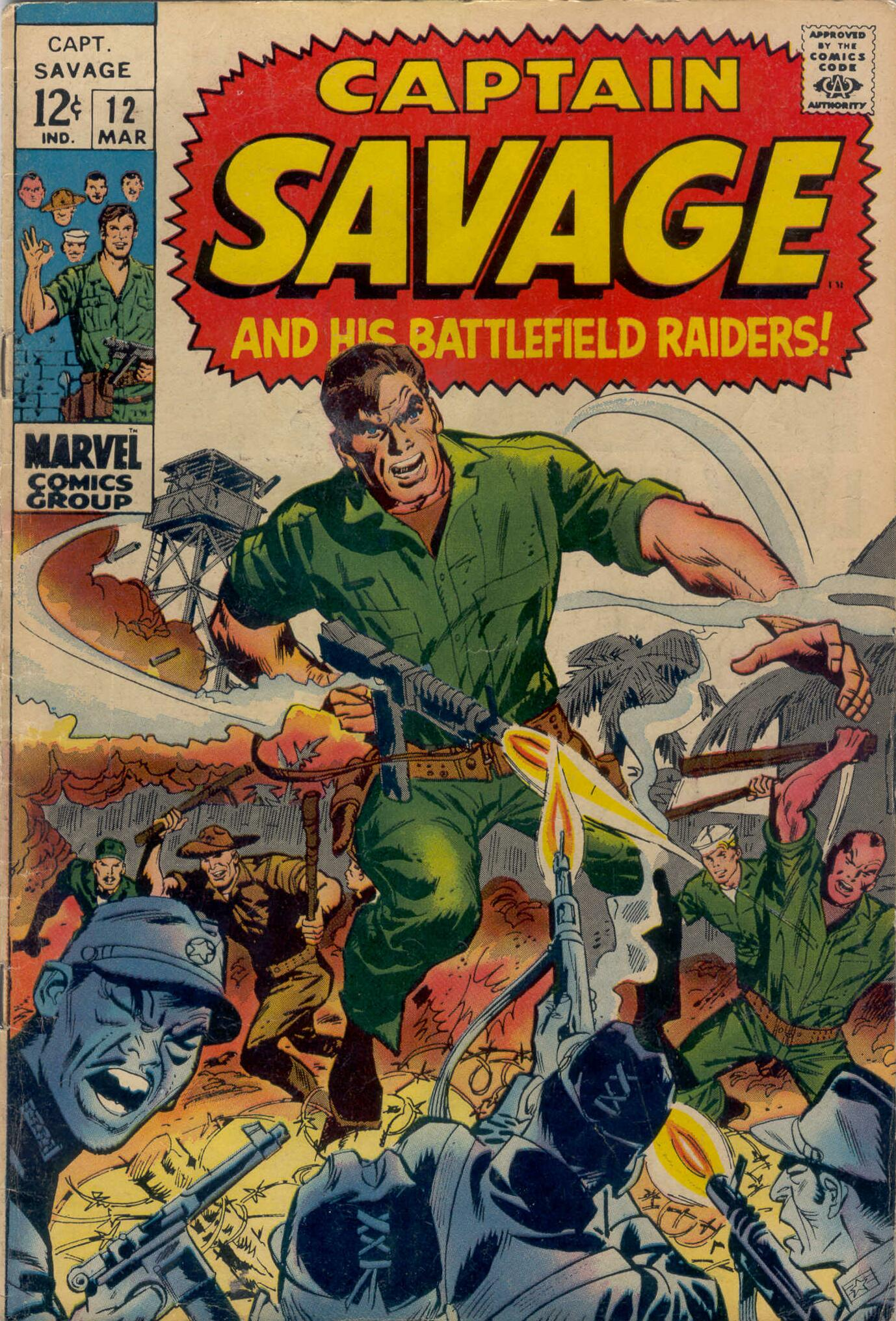Captain Savage and his Leatherneck Raiders 12 Page 1