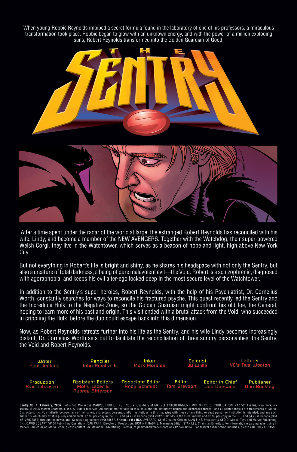 Read online Sentry (2006) comic -  Issue #4 - 2