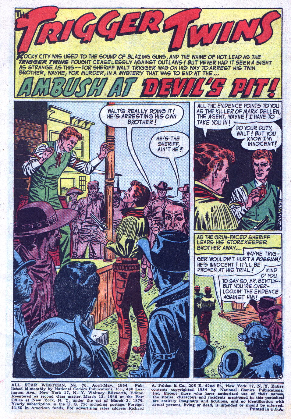 Read online All-Star Western (1951) comic -  Issue #76 - 3