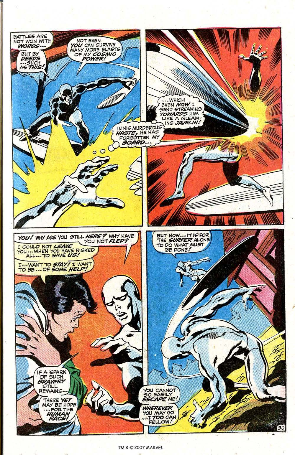 Read online Silver Surfer (1968) comic -  Issue #7 - 37