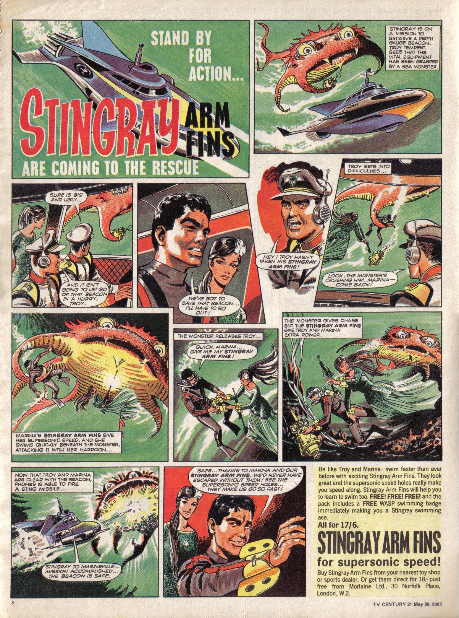 Read online TV Century 21 (TV 21) comic -  Issue #19 - 8