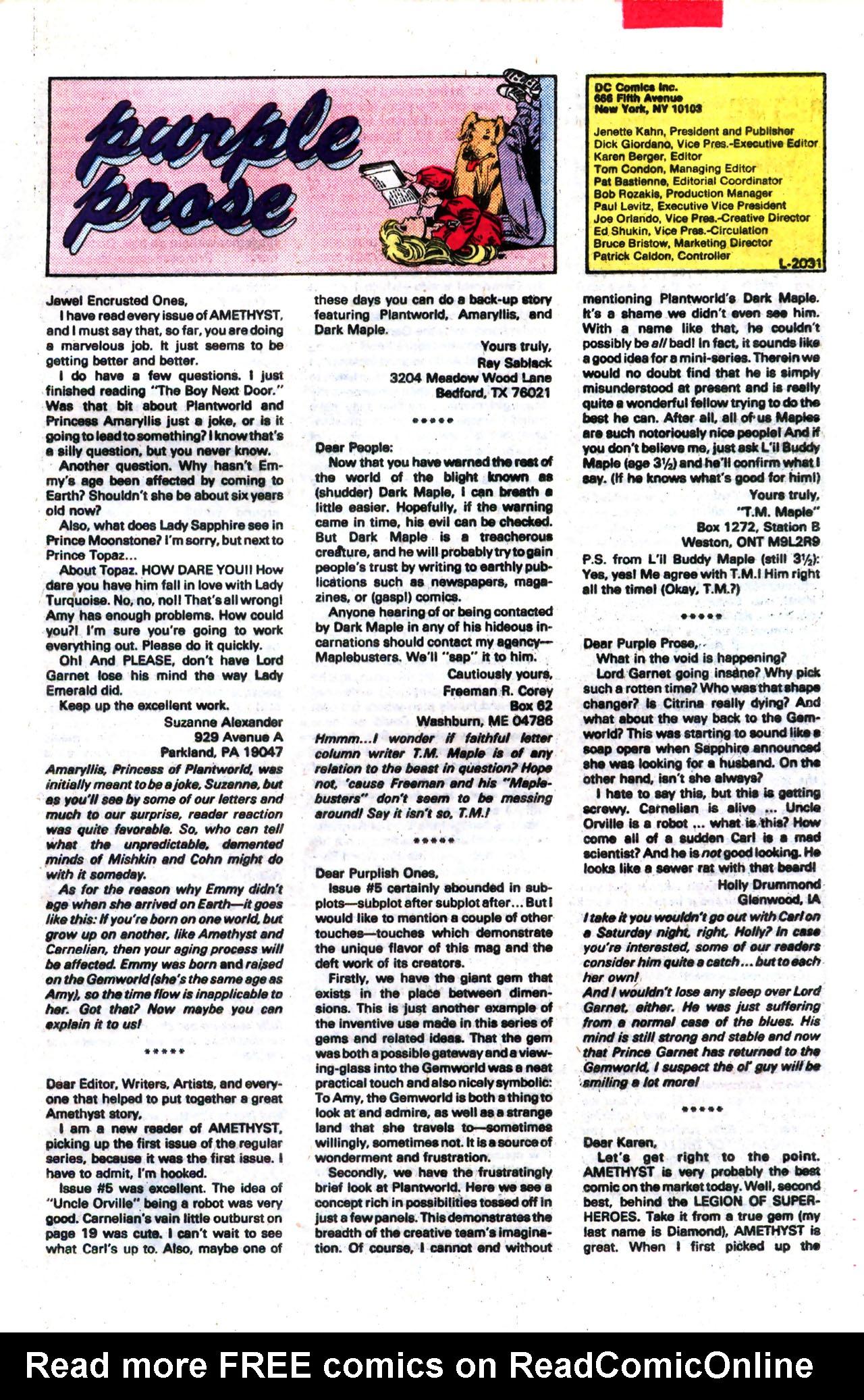 Read online Amethyst (1985) comic -  Issue #8 - 24