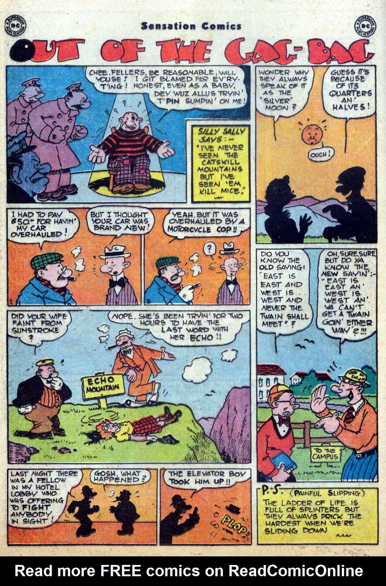 Read online Sensation (Mystery) Comics comic -  Issue #59 - 30