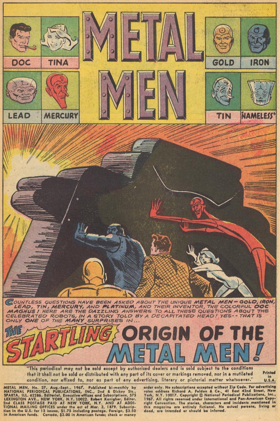 Comic Metal Men (1963) issue 27