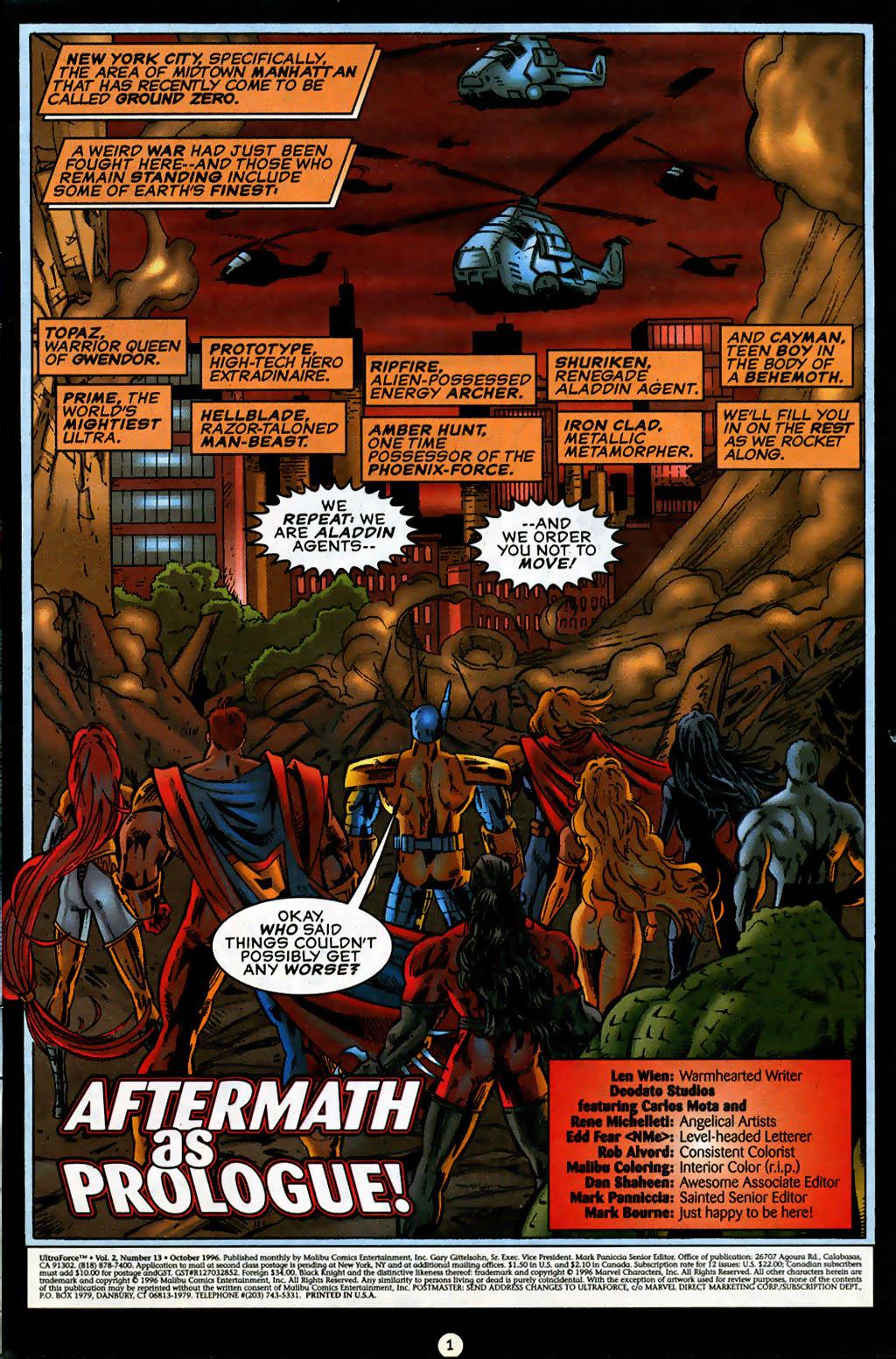 Read online UltraForce (1995) comic -  Issue #13 - 2