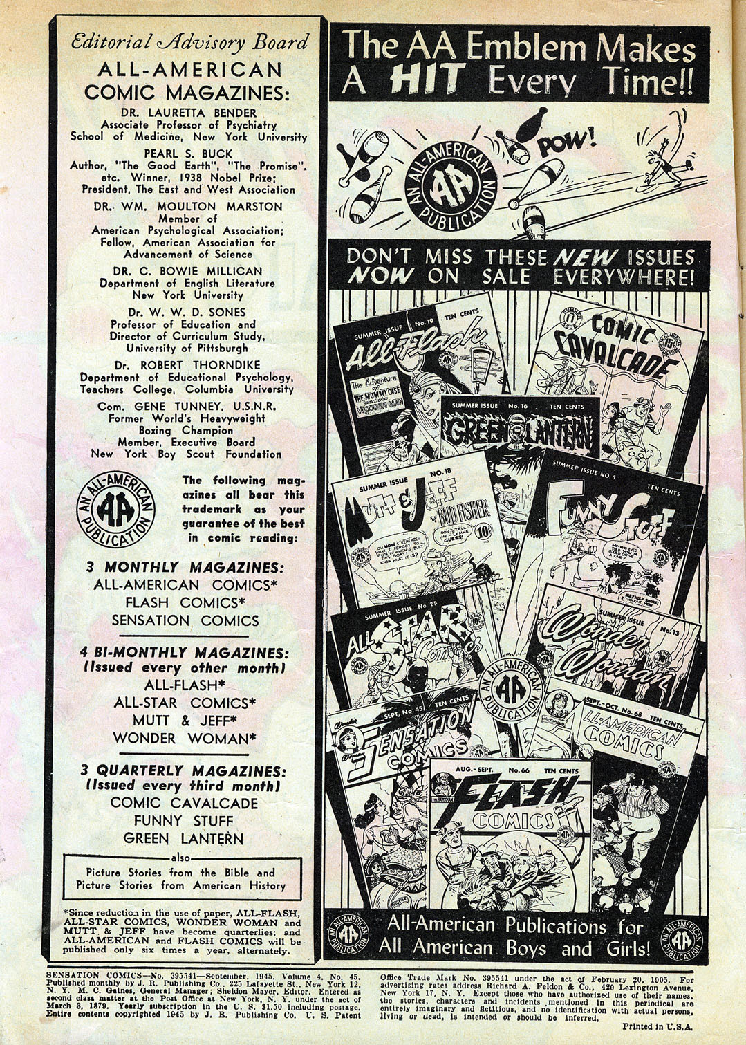 Read online Sensation (Mystery) Comics comic -  Issue #45 - 2