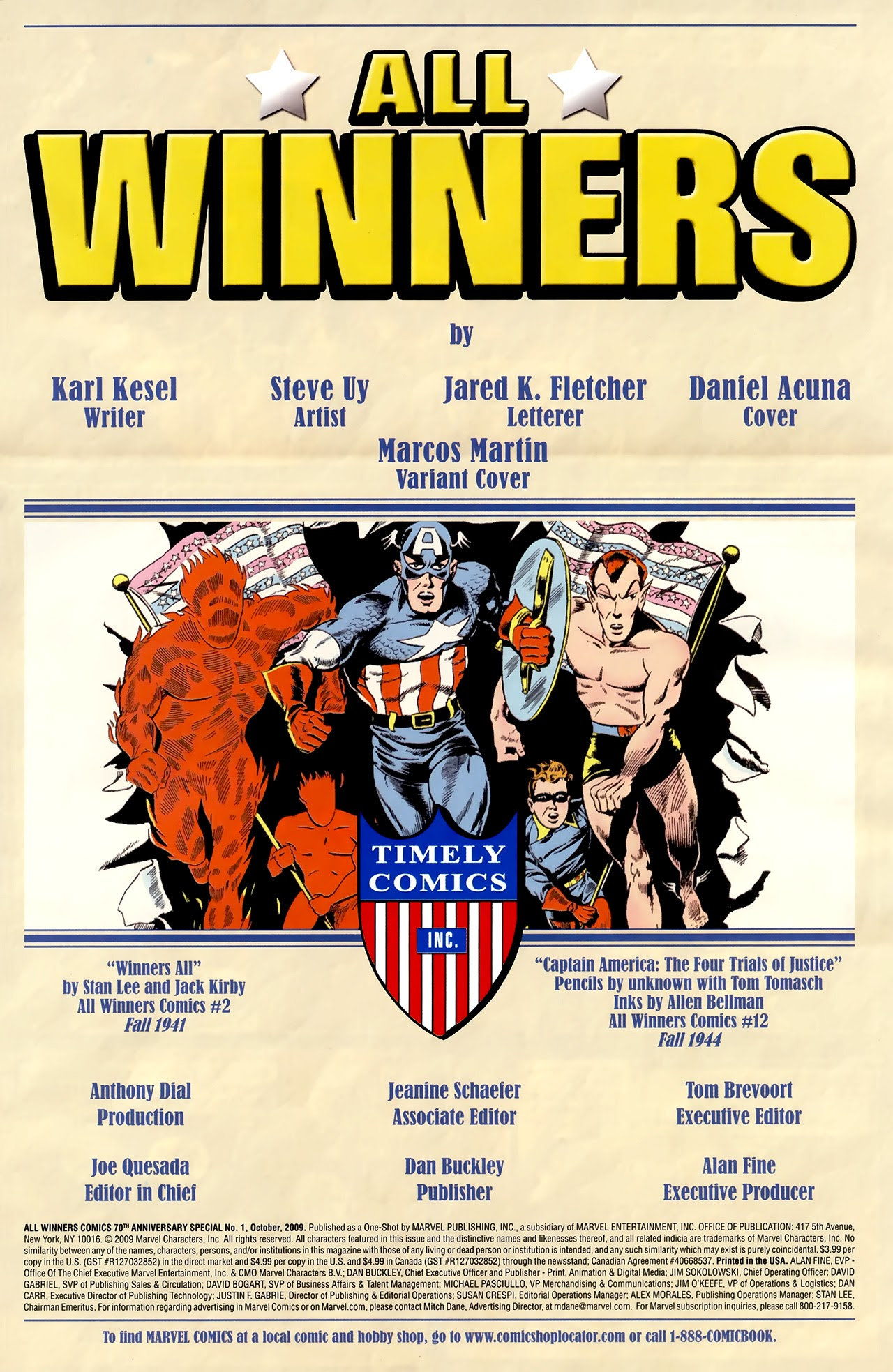 All Winners Comics 70th Anniversary Special Full Page 2