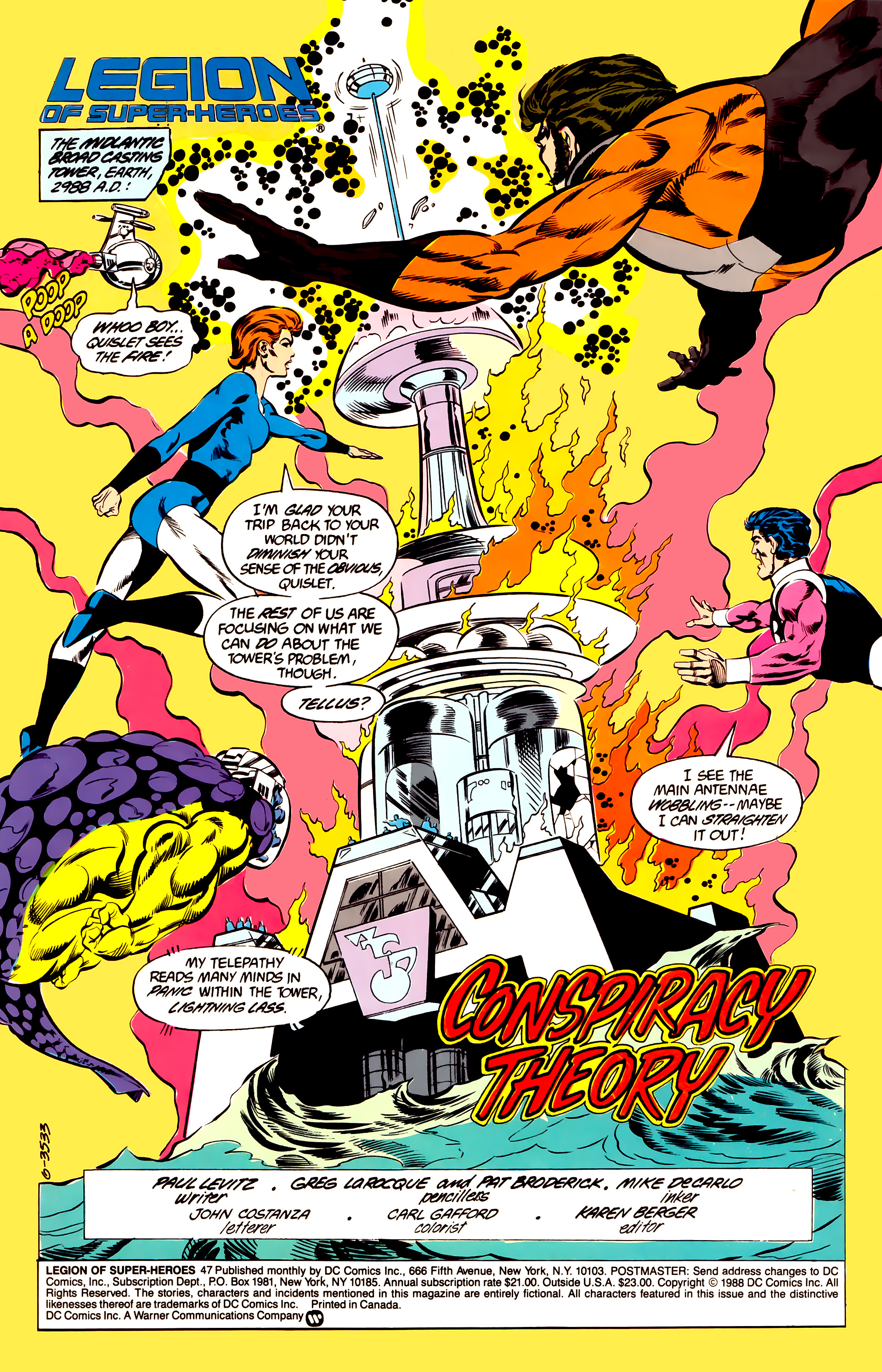 Legion of Super-Heroes (1984) 47 Page 1