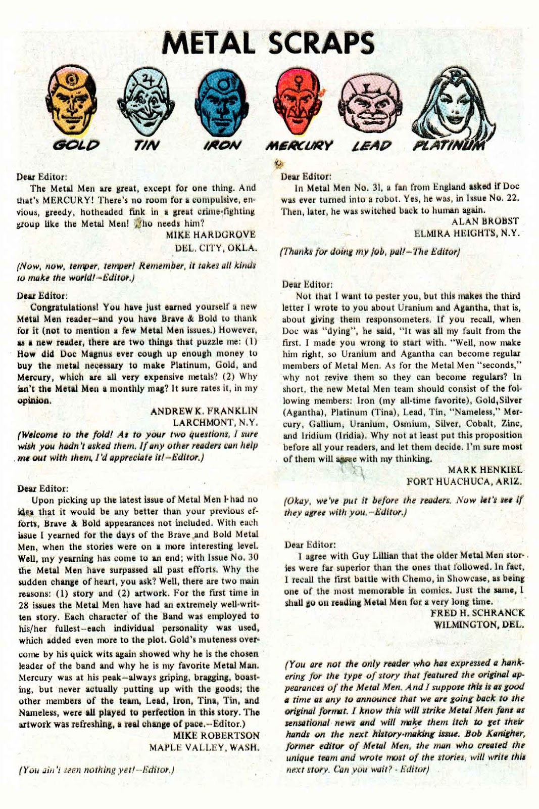 Metal Men (1963) issue 32 - Page 32