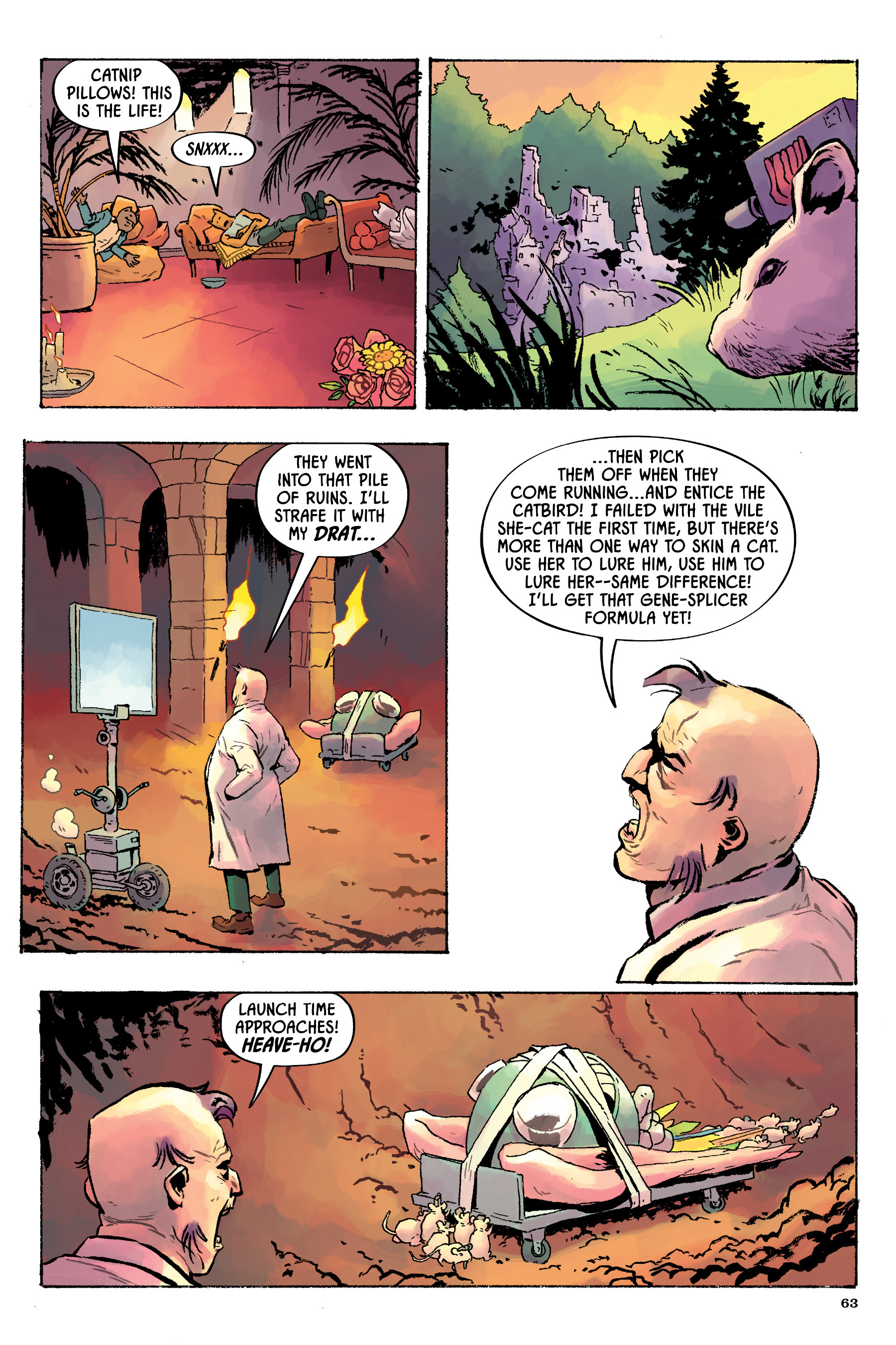 Read online Angel Catbird comic -  Issue # TPB 2 - 64
