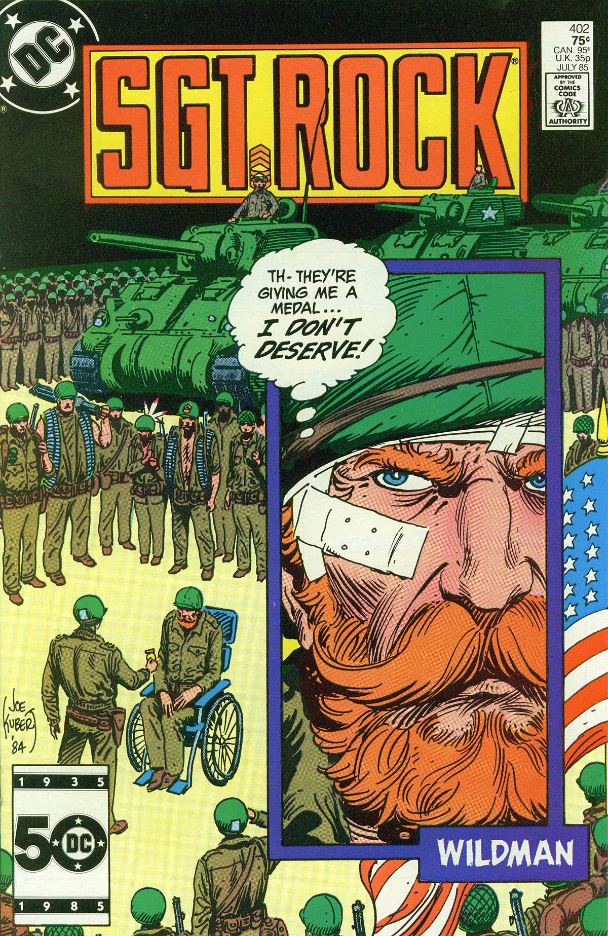Read online Sgt. Rock comic -  Issue #402 - 1