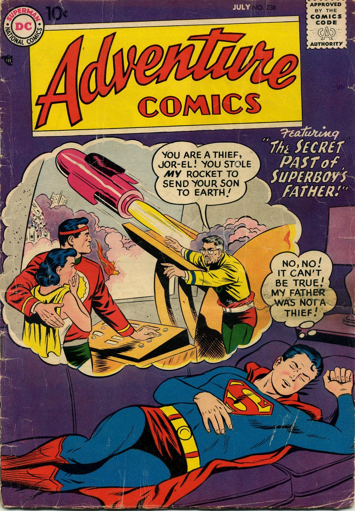 Read online Adventure Comics (1938) comic -  Issue #238 - 1
