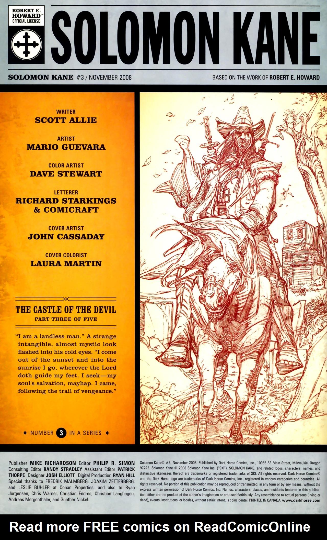 Read online Solomon Kane comic -  Issue #3 - 2