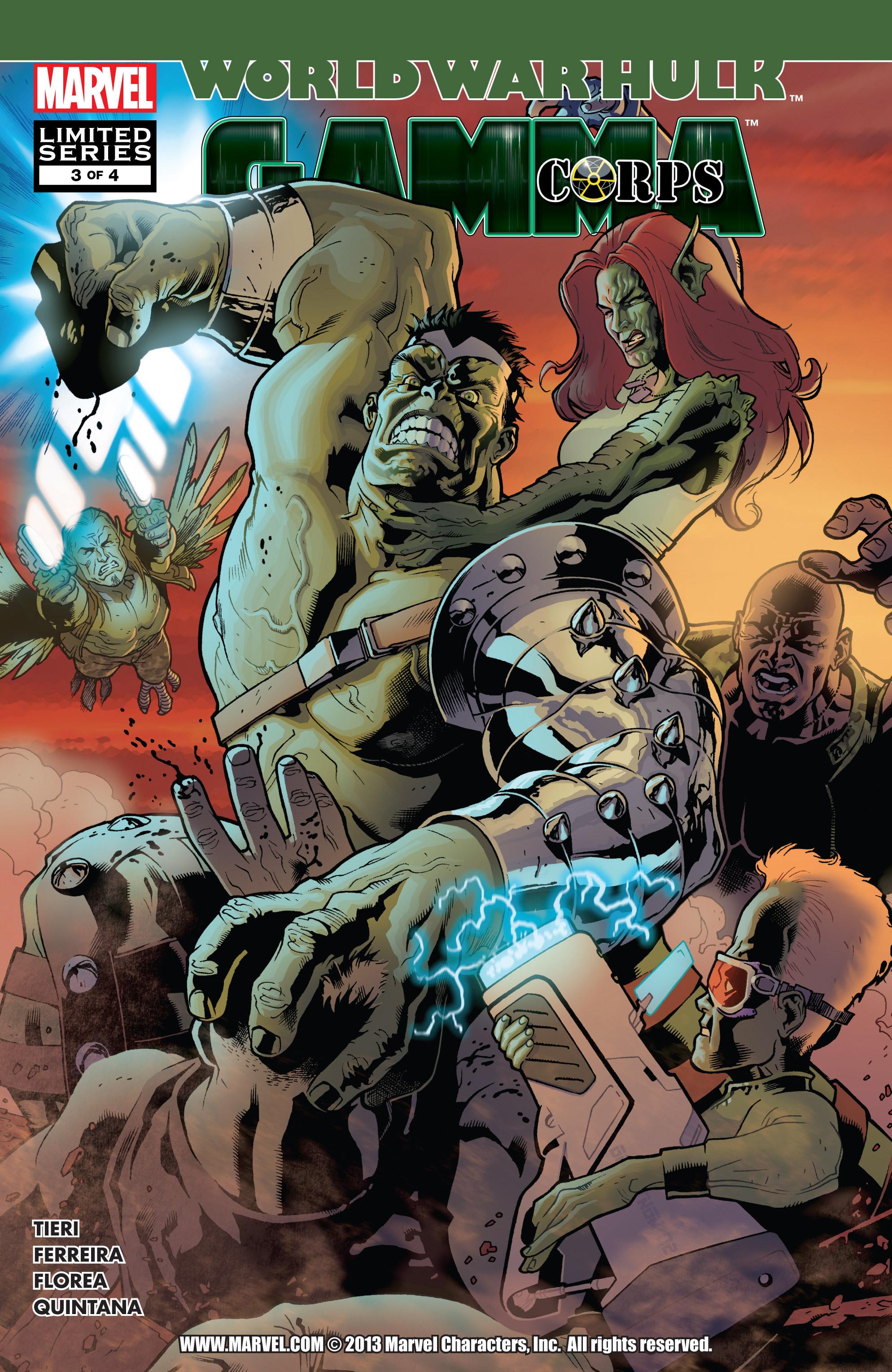 Read online World War Hulk: Gamma Corps comic -  Issue #3 - 1