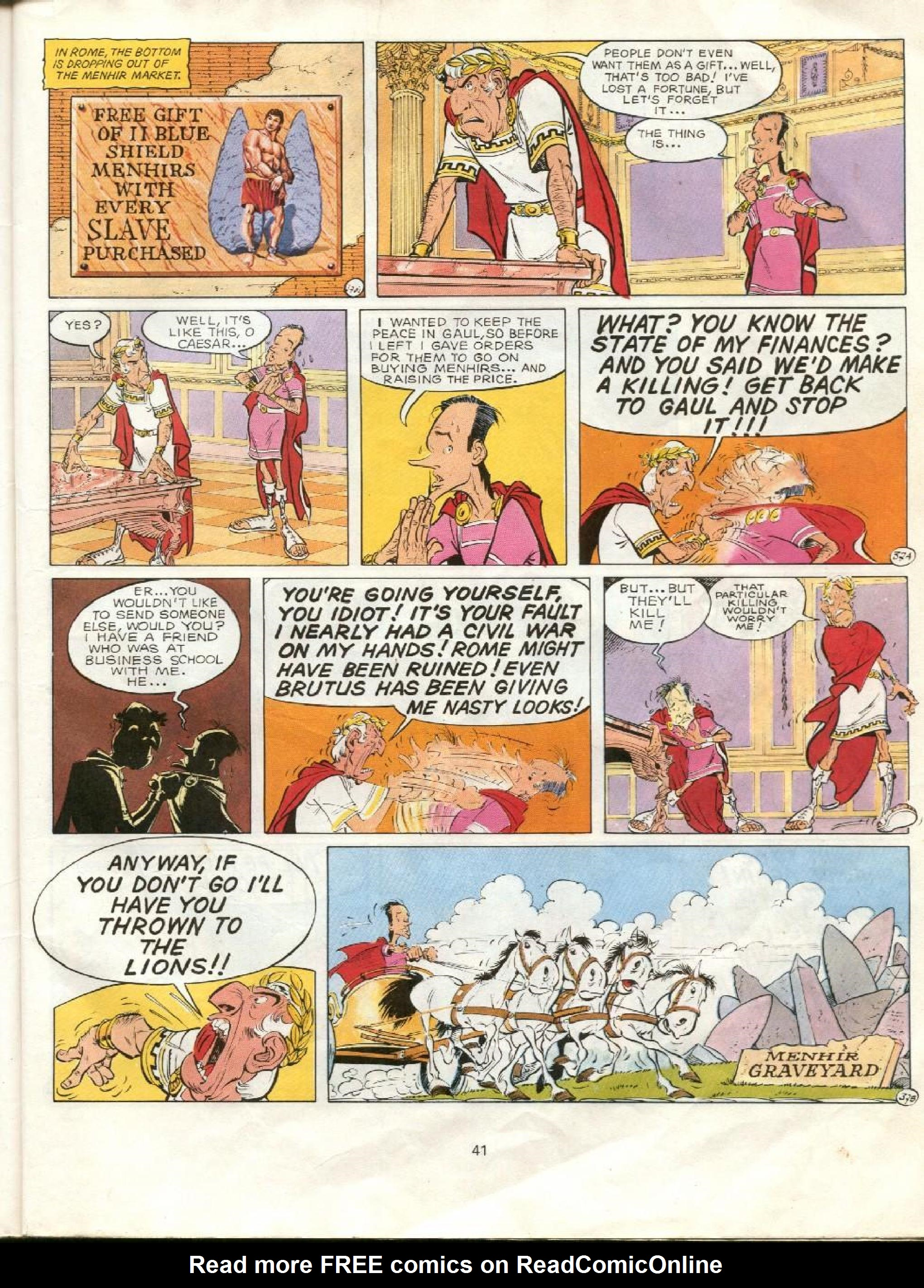 Read online Asterix comic -  Issue #23 - 38