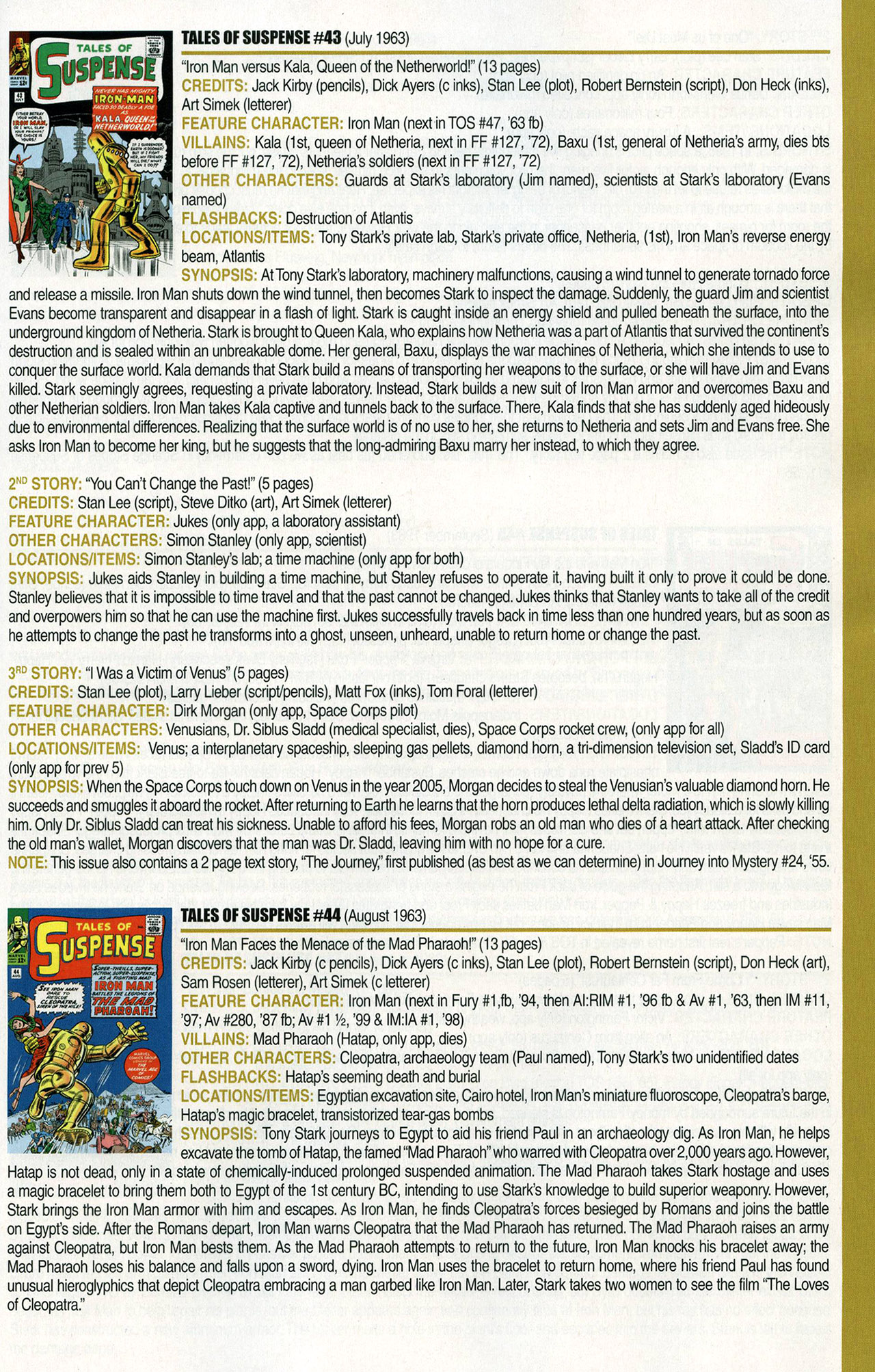 Read online Official Index to the Marvel Universe comic -  Issue #1 - 27
