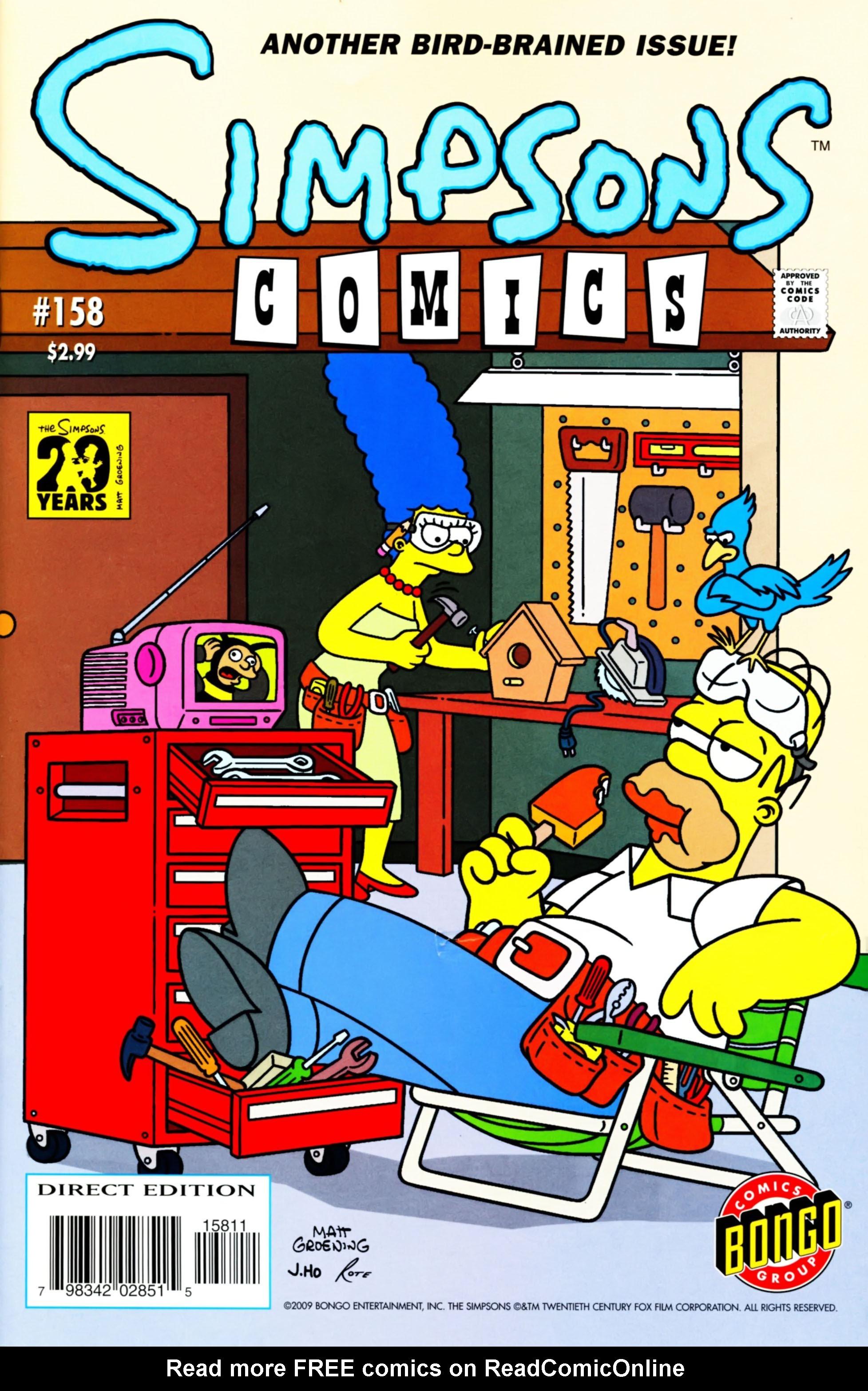 Read online Simpsons Comics comic -  Issue #158 - 1