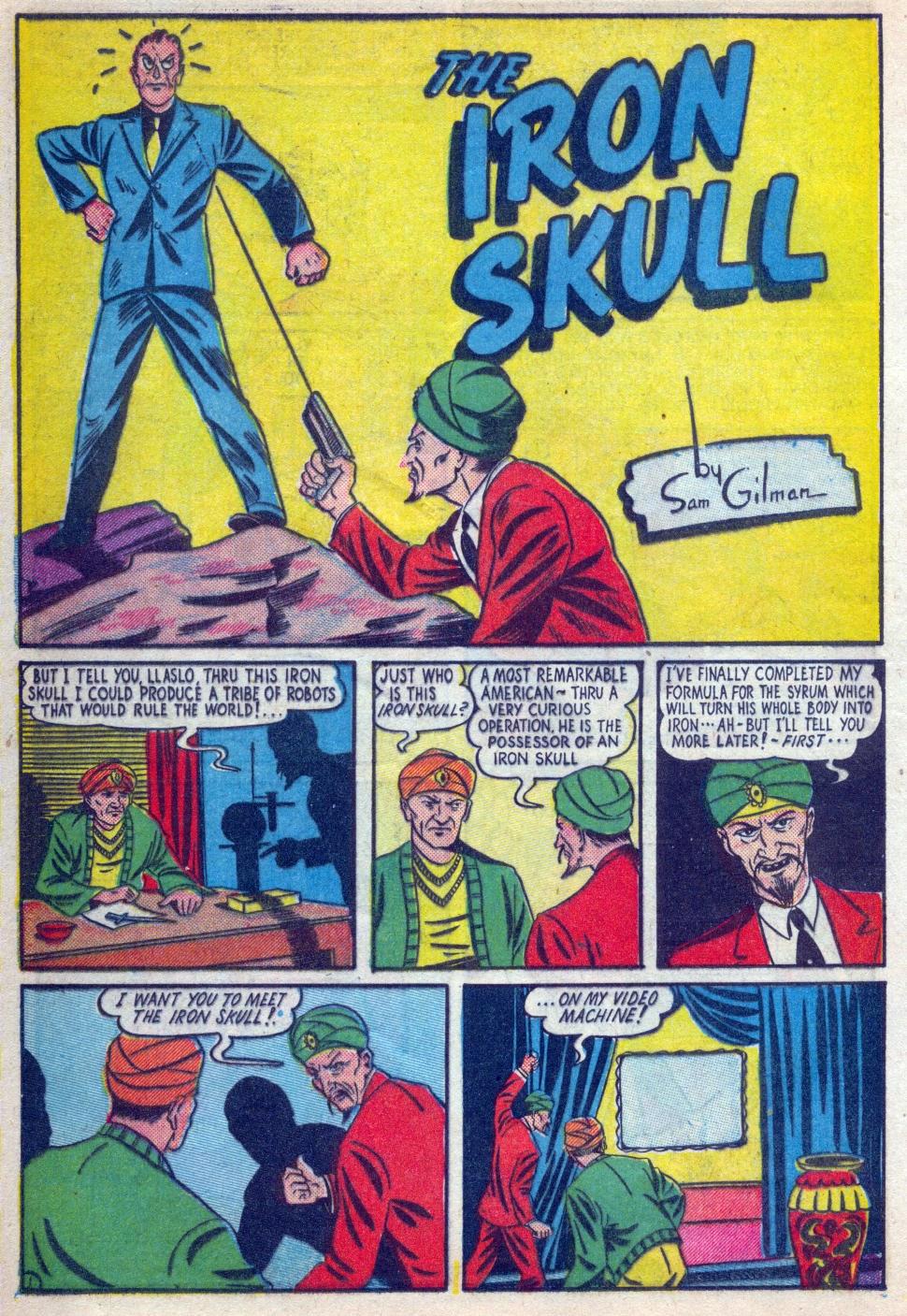 Read online Amazing Man Comics comic -  Issue #15 - 19